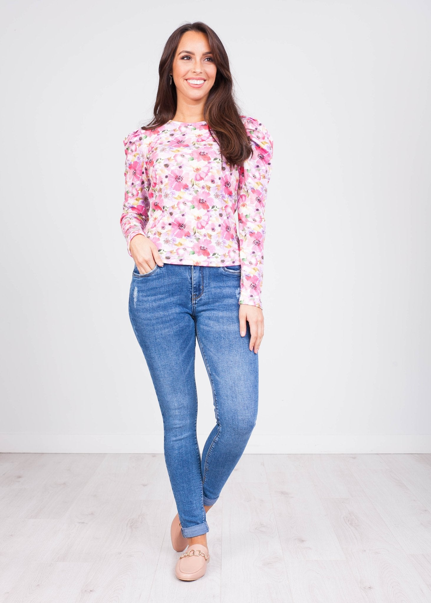 Charlee Floral Print Top - The Walk in Wardrobe