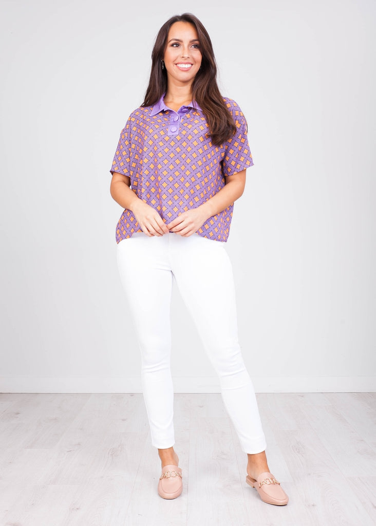 Charlee Mix Print T-Shirt - The Walk in Wardrobe