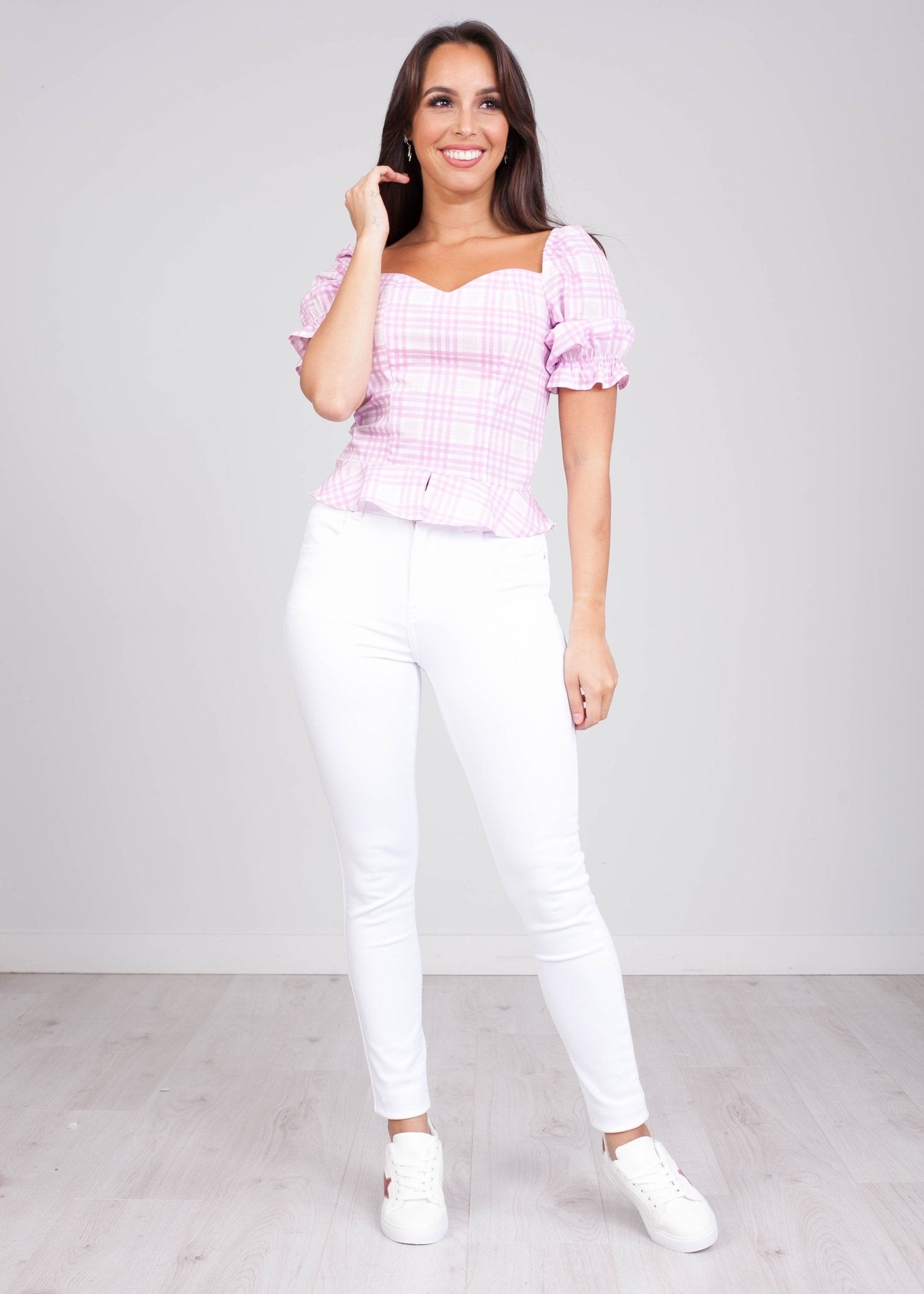 Charlee Pink Bardot Top - The Walk in Wardrobe