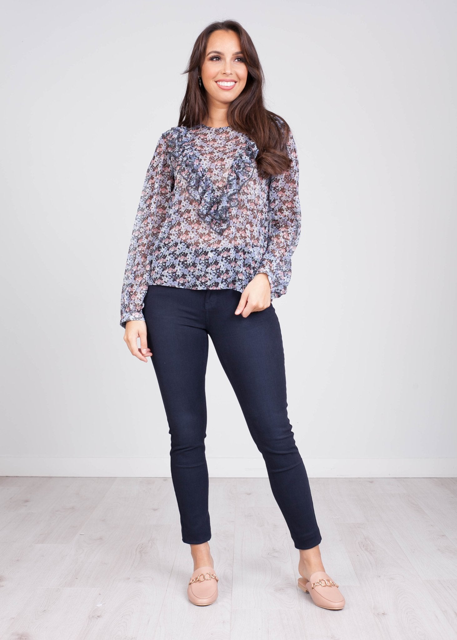 Charlee Sheer Floral Blouse - The Walk in Wardrobe