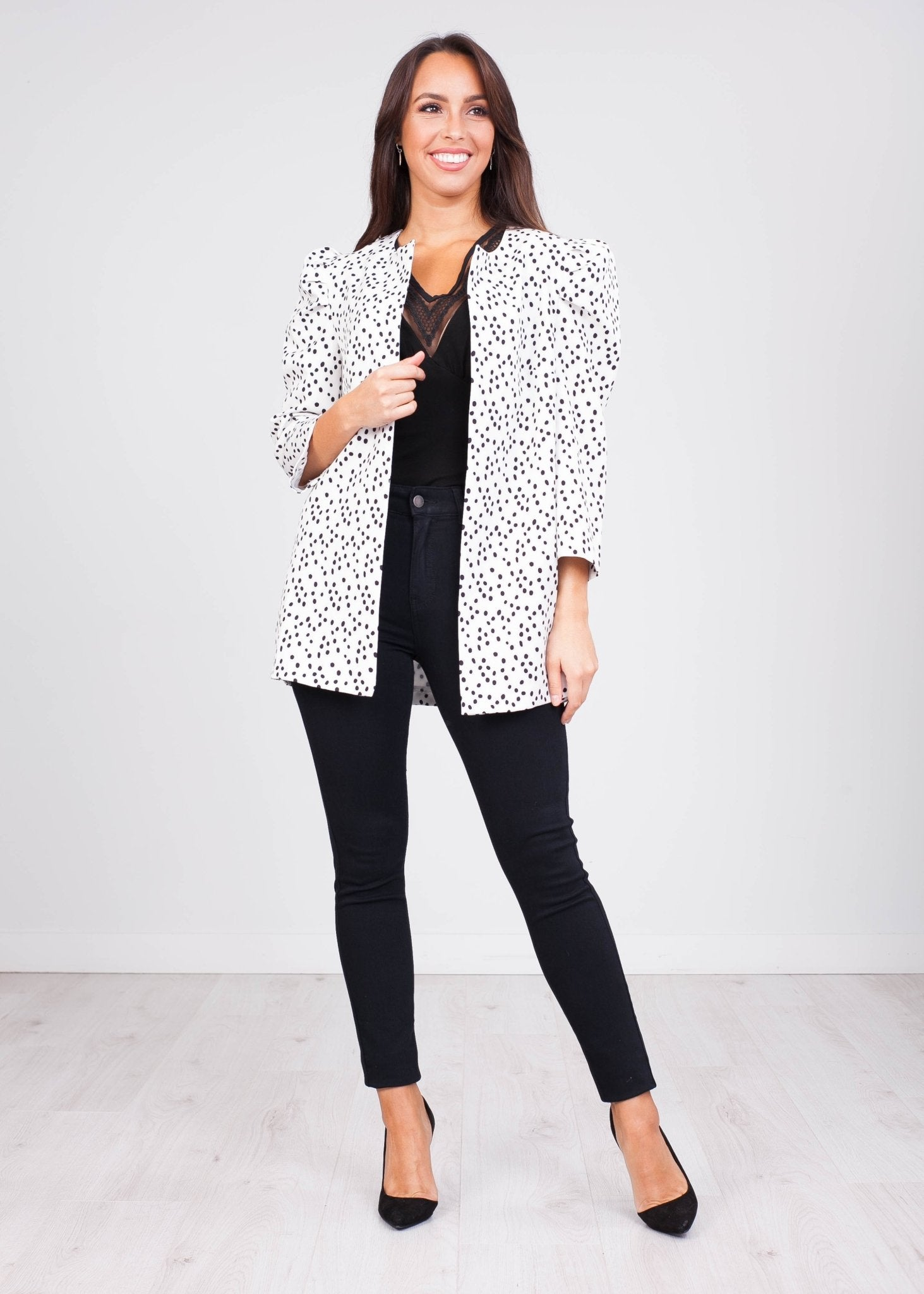 Charlee White Print Jacket - The Walk in Wardrobe