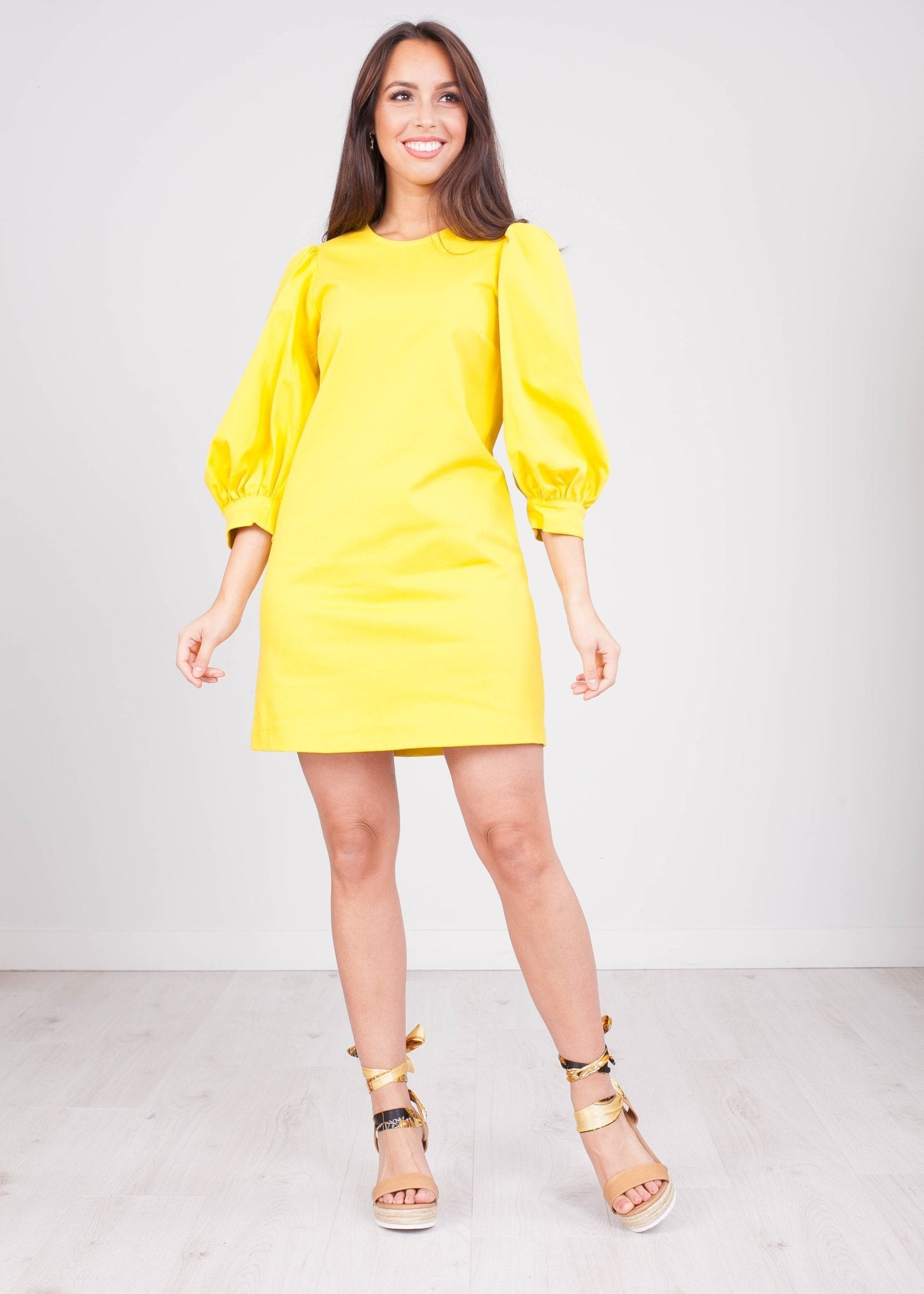 Charlee Yellow Dress - The Walk in Wardrobe