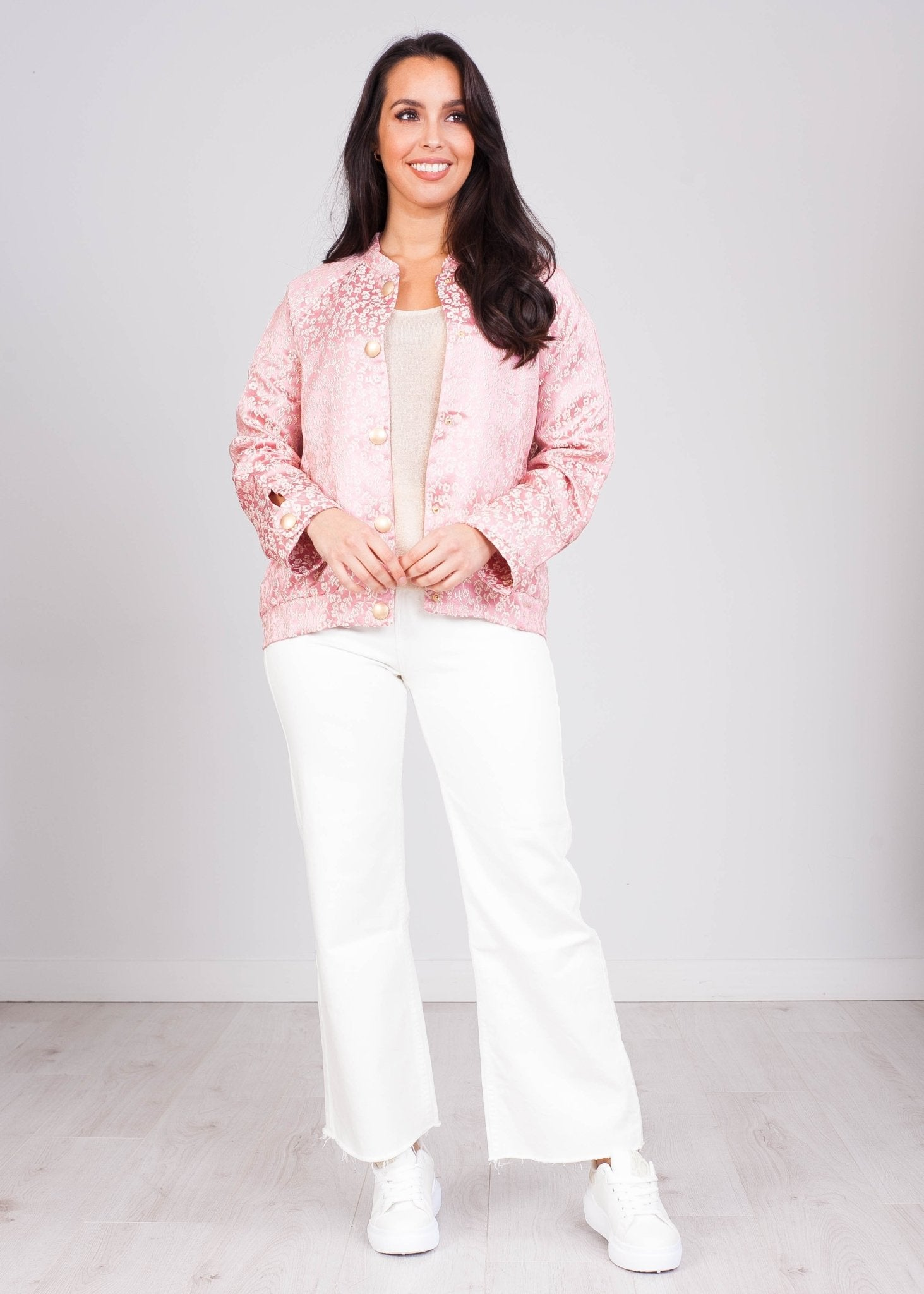 Cherie Cherry Blossom Bomber - The Walk in Wardrobe