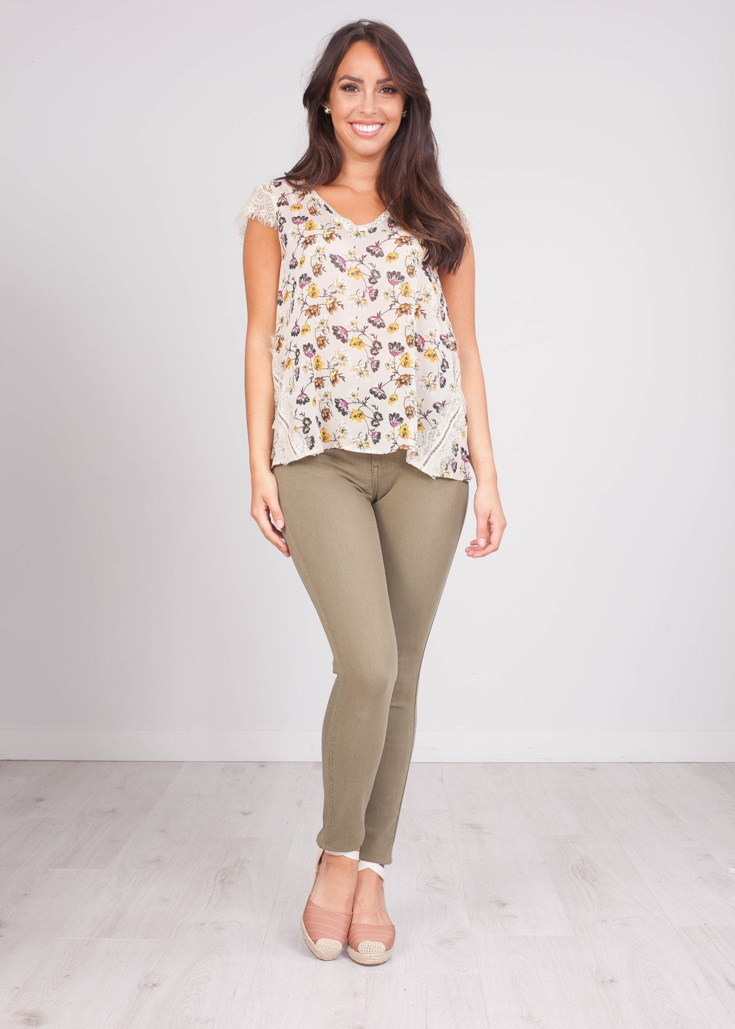 Cherie Cream Printed Blouse - The Walk in Wardrobe