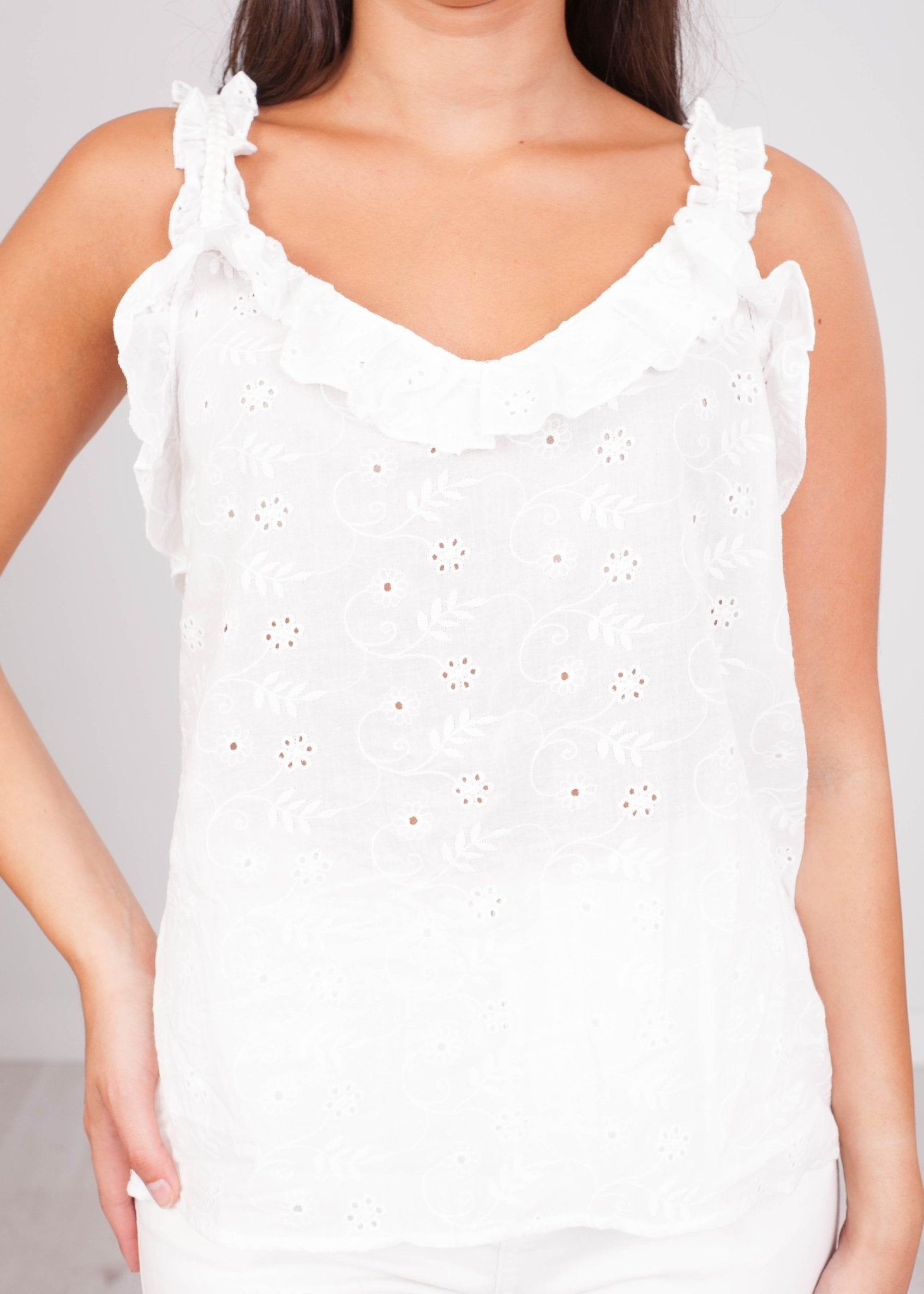 Cherie Embroidered Top - The Walk in Wardrobe