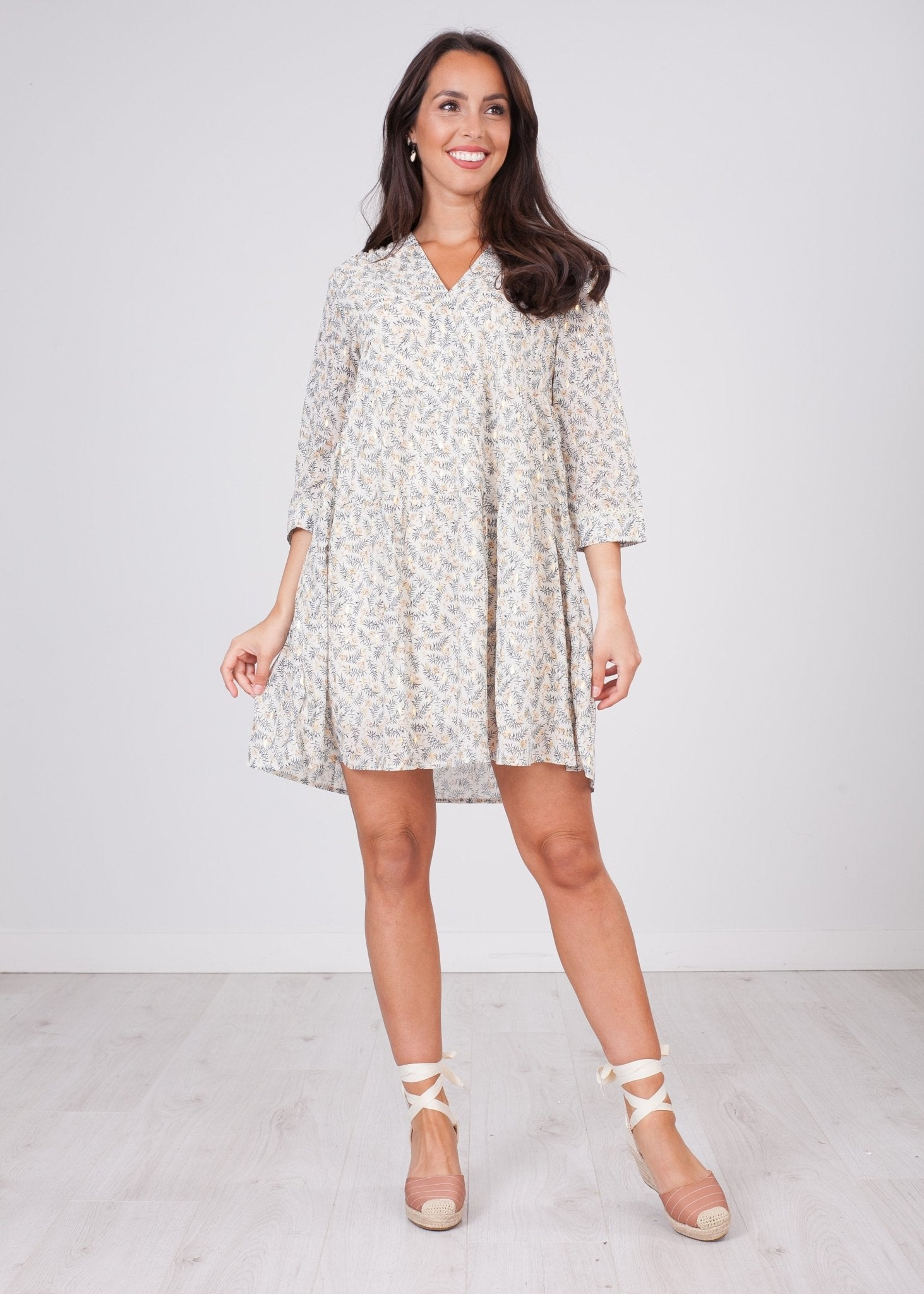 Cherie Leaf Print Dress - The Walk in Wardrobe