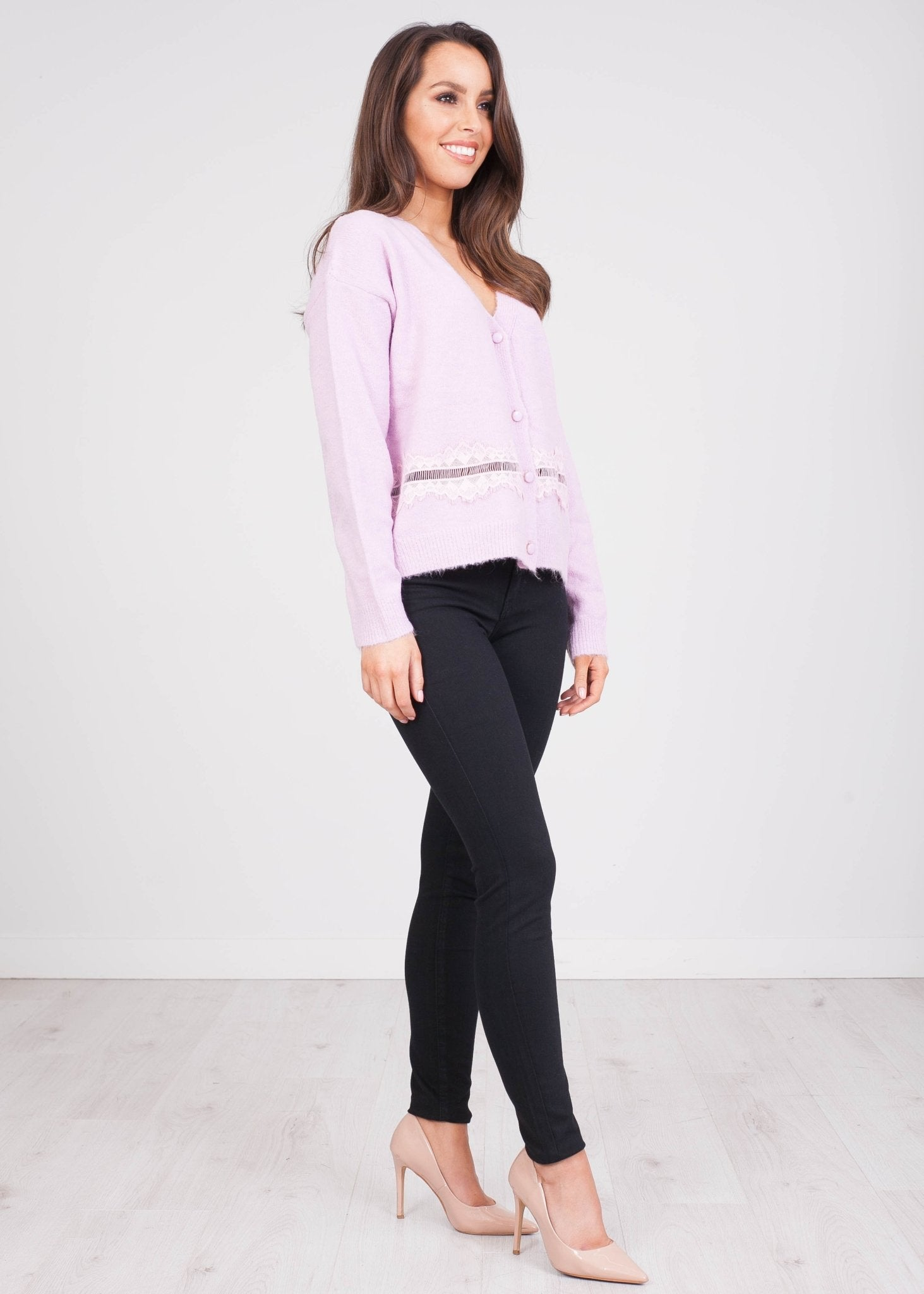 Cherie Lilac Cardigan - The Walk in Wardrobe