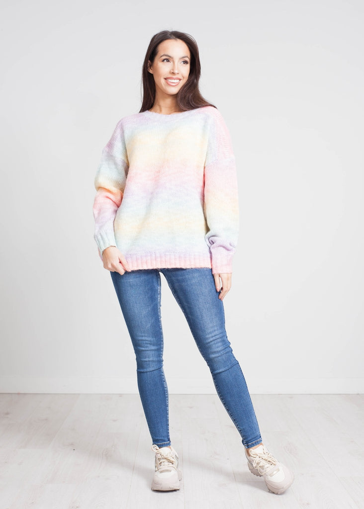 Cherie Open Back Jumper Rainbow Mix - The Walk in Wardrobe