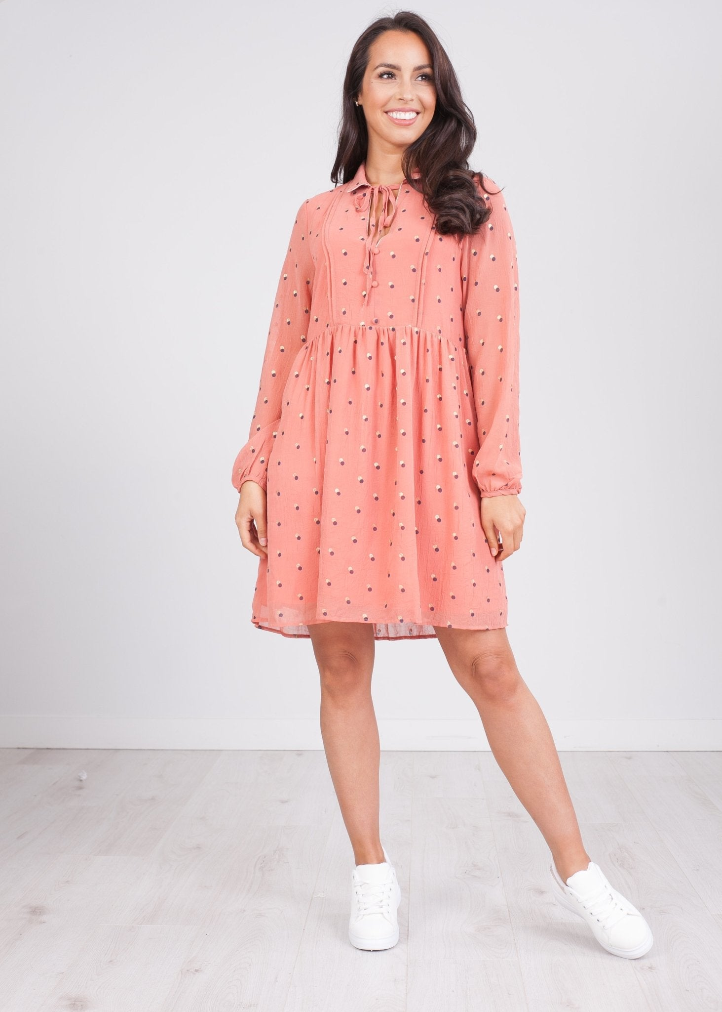 Cherie Rose Polka Dot Dress - The Walk in Wardrobe