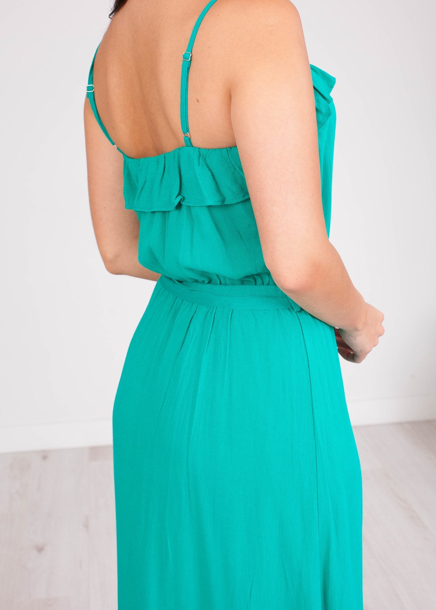 Cherie Teal Midi Dress - The Walk in Wardrobe