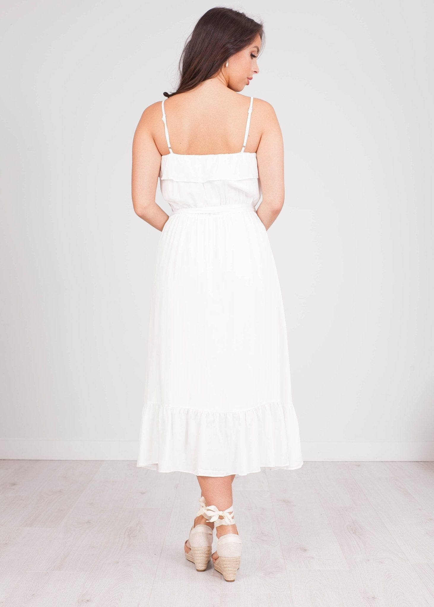 Cherie White Midi Dress - The Walk in Wardrobe