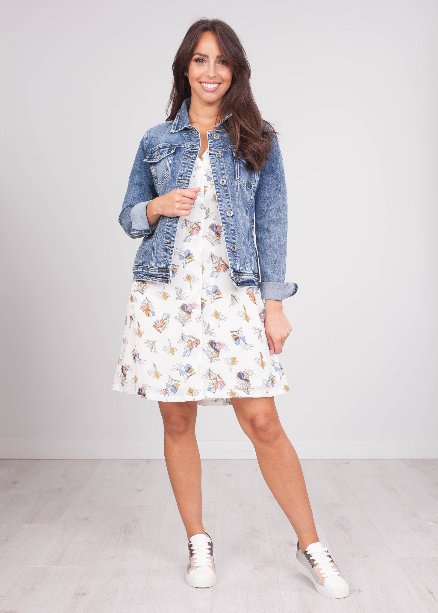 Cherie White Printed Dress - The Walk in Wardrobe