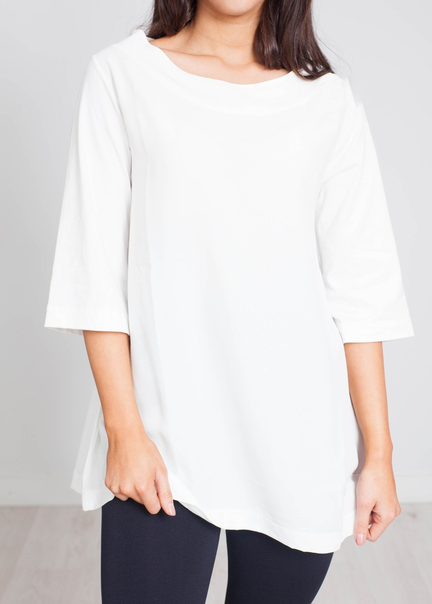 Cleo Boat Neck Top In White - The Walk in Wardrobe