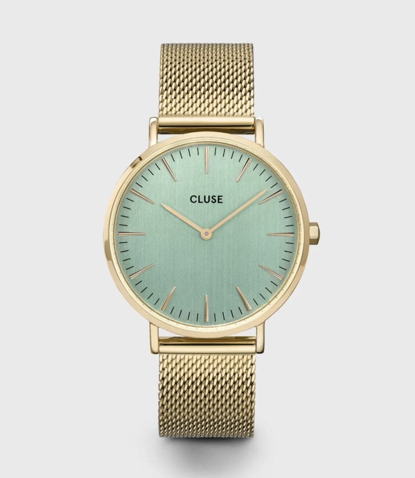 Cluse - La Bohème Mesh Green Gold Colour - The Walk in Wardrobe