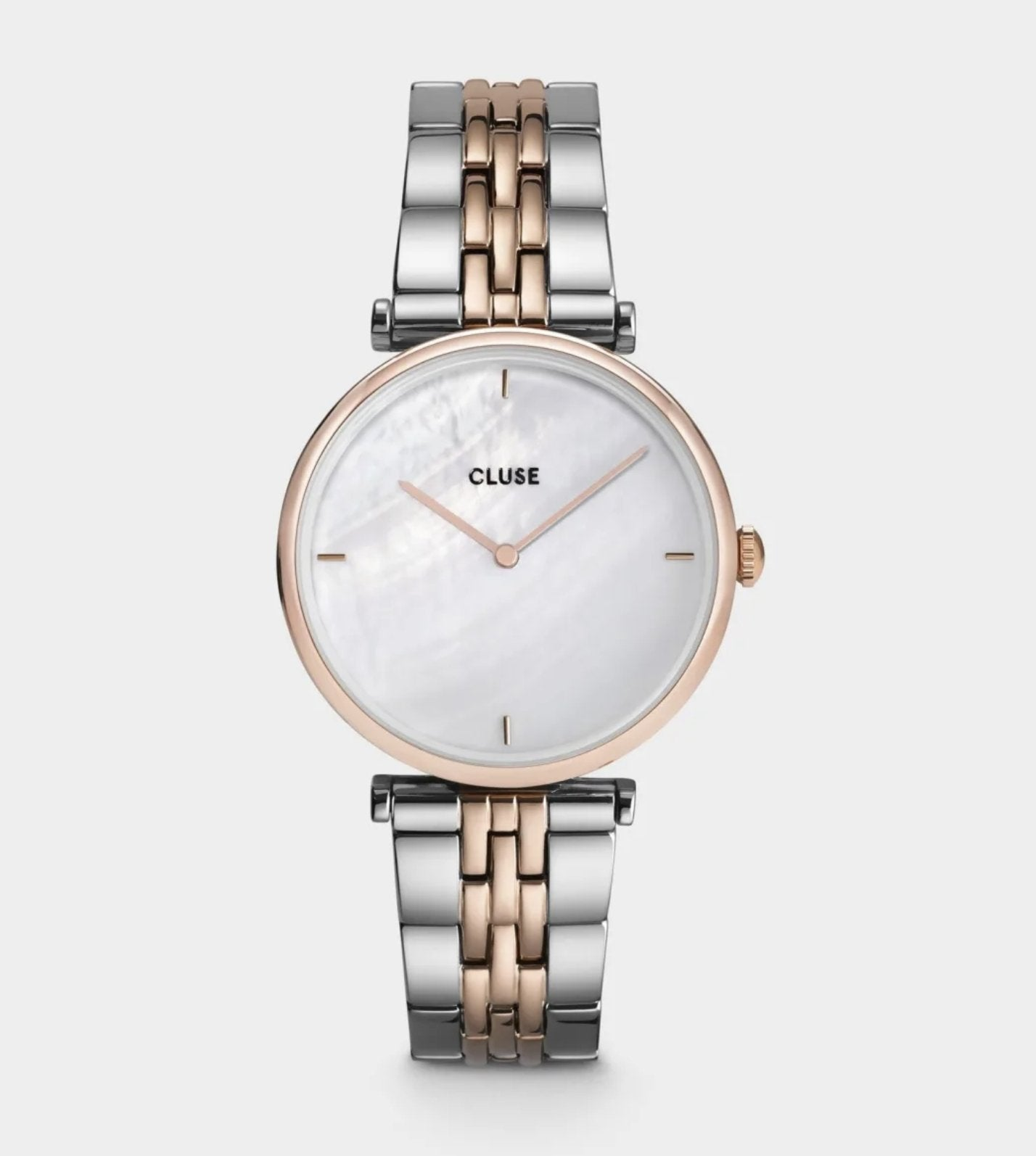 Cluse - Triomphe Steel White Pearl Rose Gold - The Walk in Wardrobe