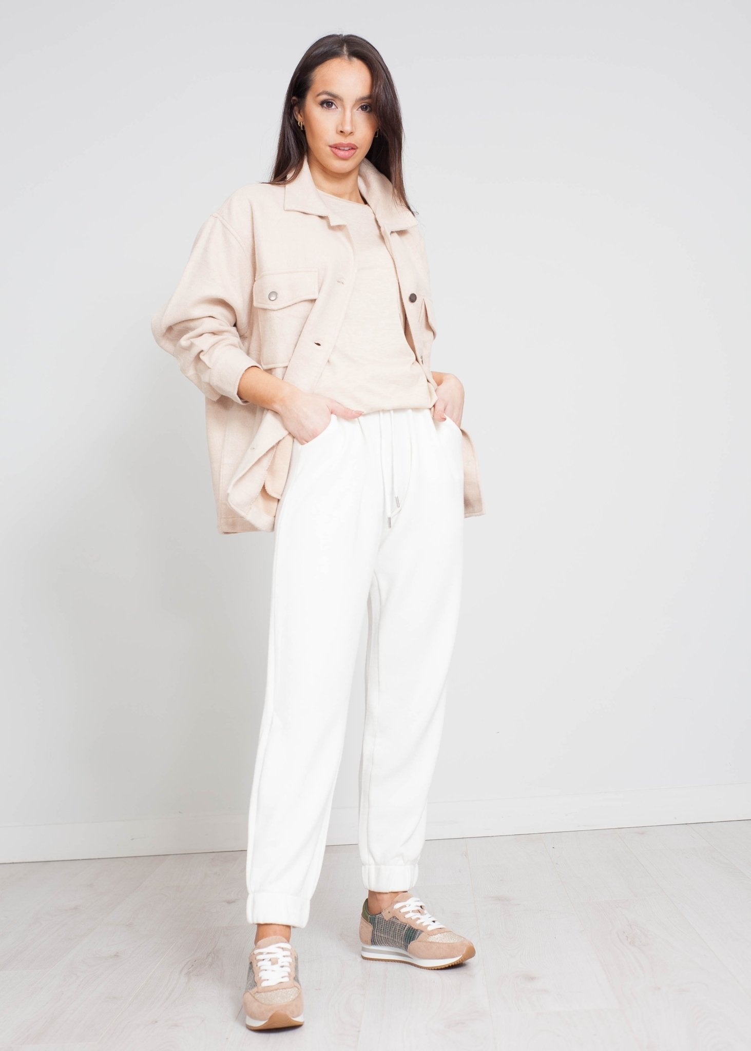 Danni Knit Joggers In Cream - The Walk in Wardrobe