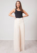 Aliyah Cream Pleated Trousers