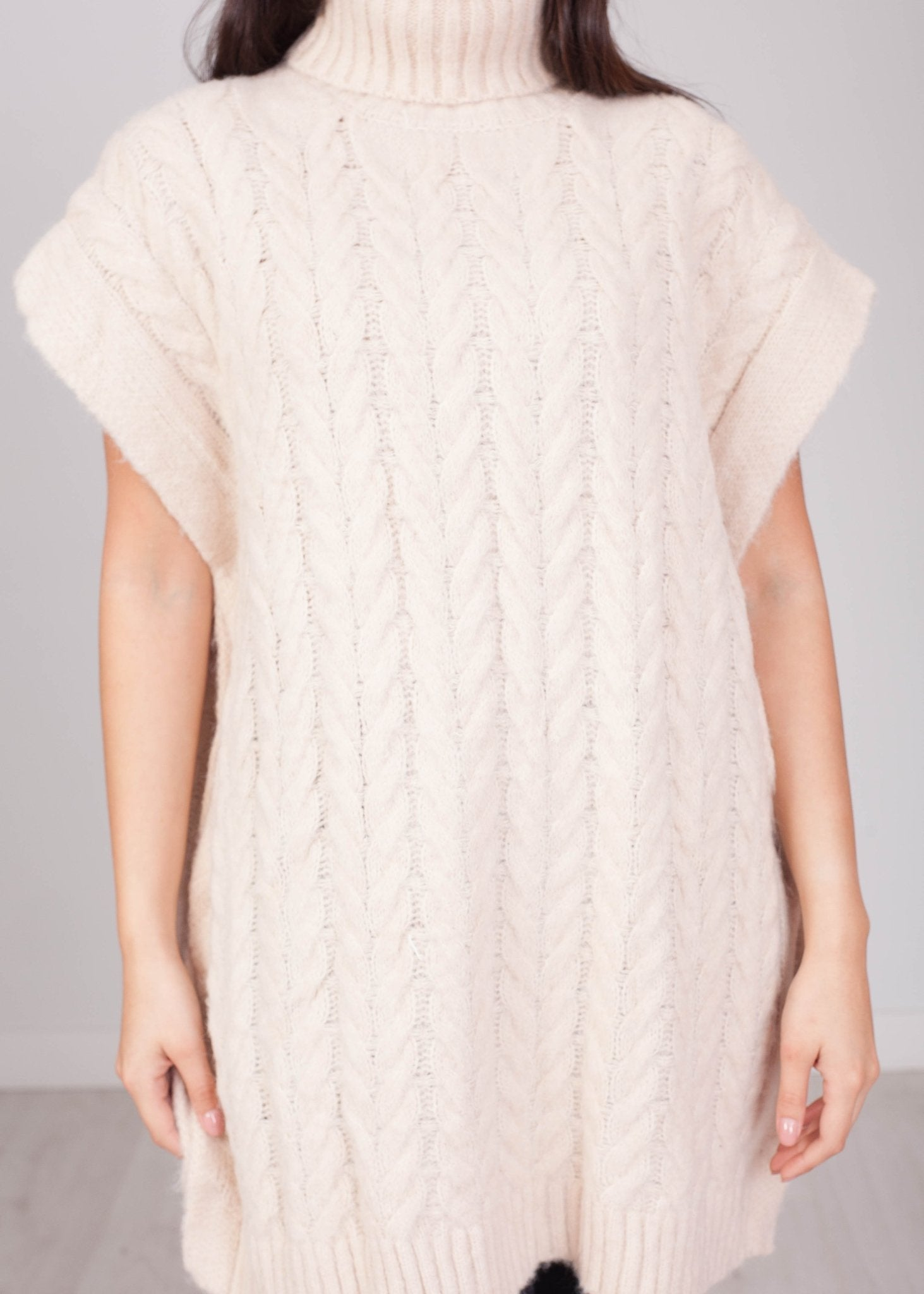 Elsa Cream Chunky Sleeveless Knit - The Walk in Wardrobe