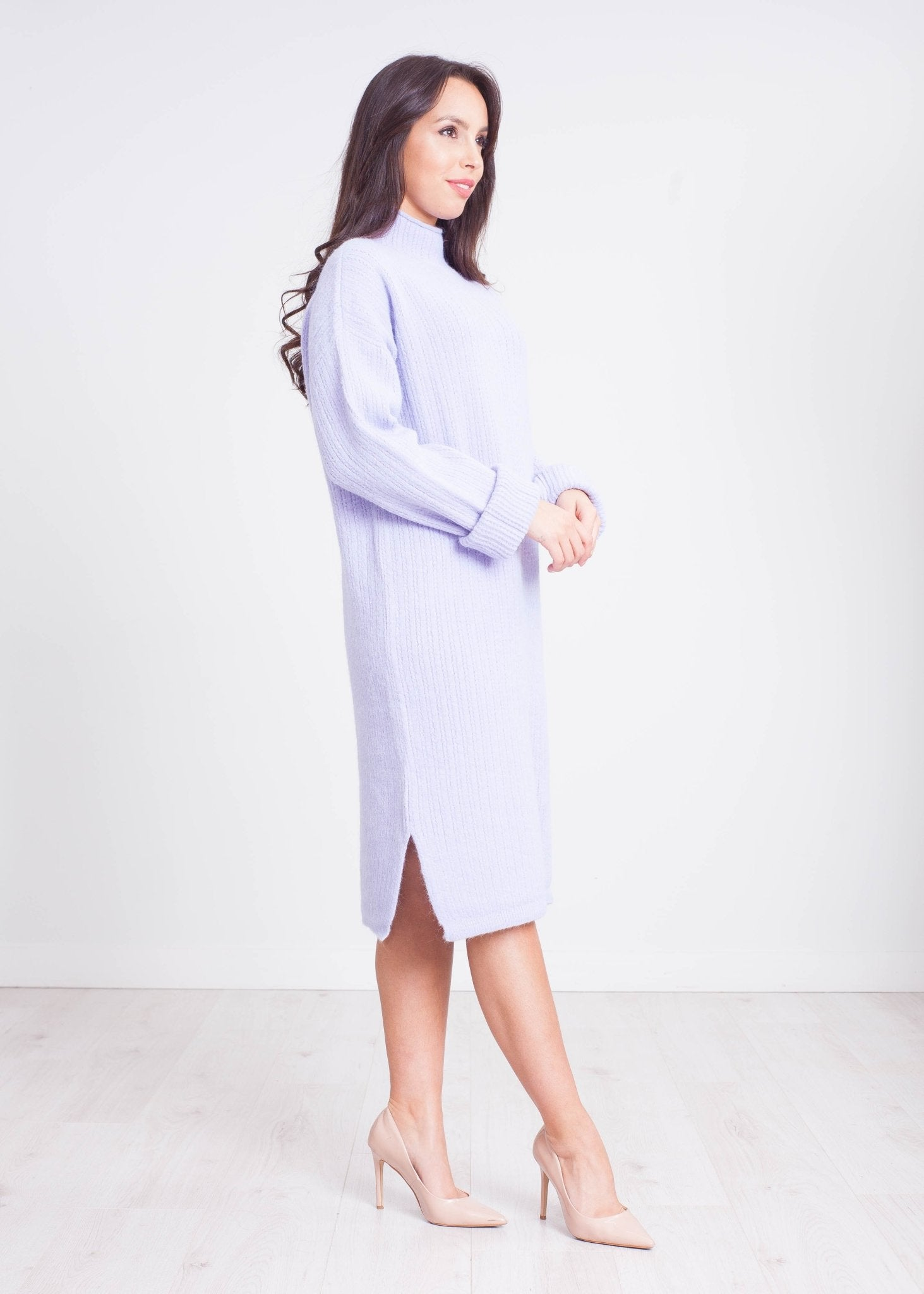 Elsa Knit Dress in Lilac - The Walk in Wardrobe