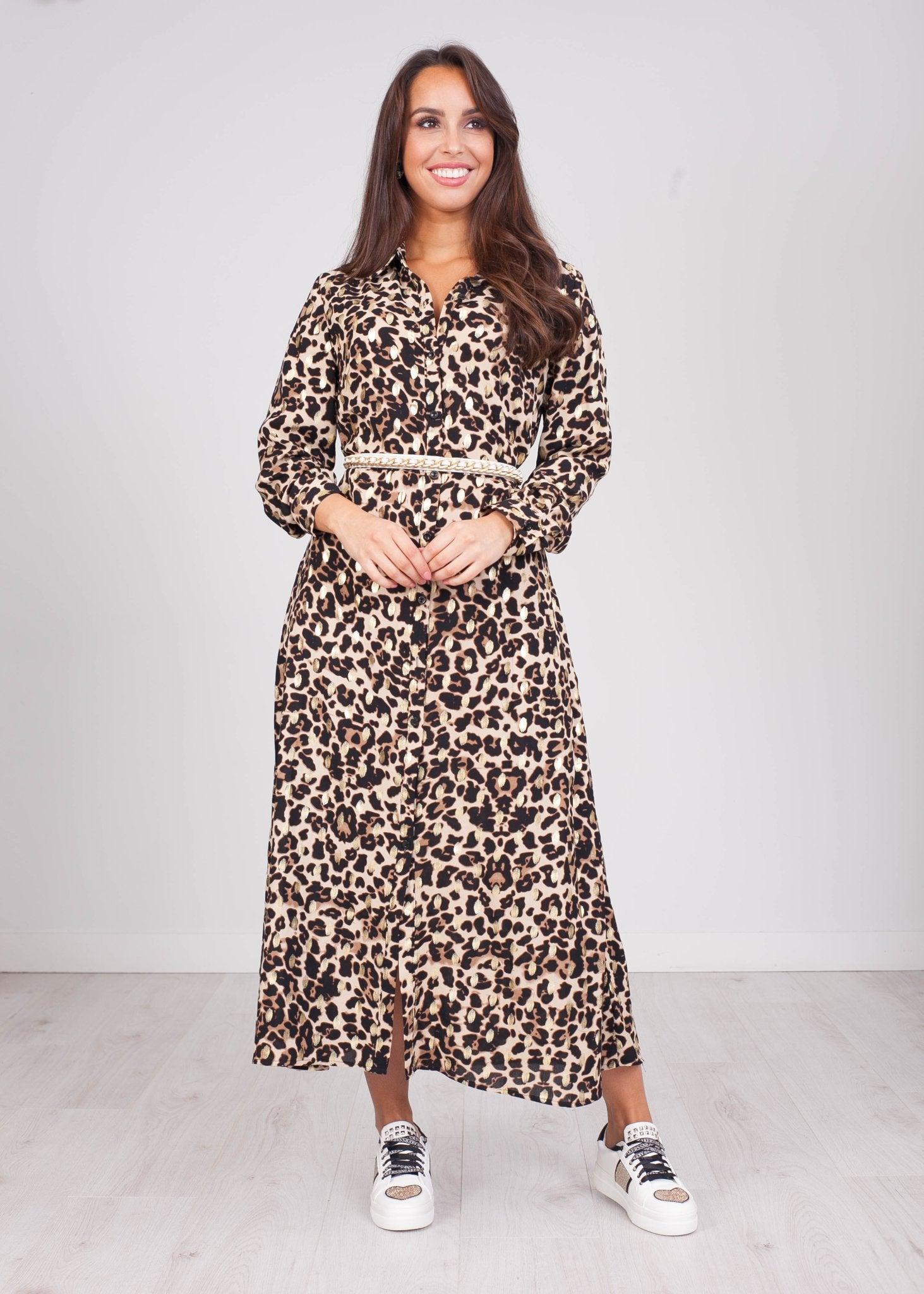 Emilia Animal Tie Waist Dress - The Walk in Wardrobe