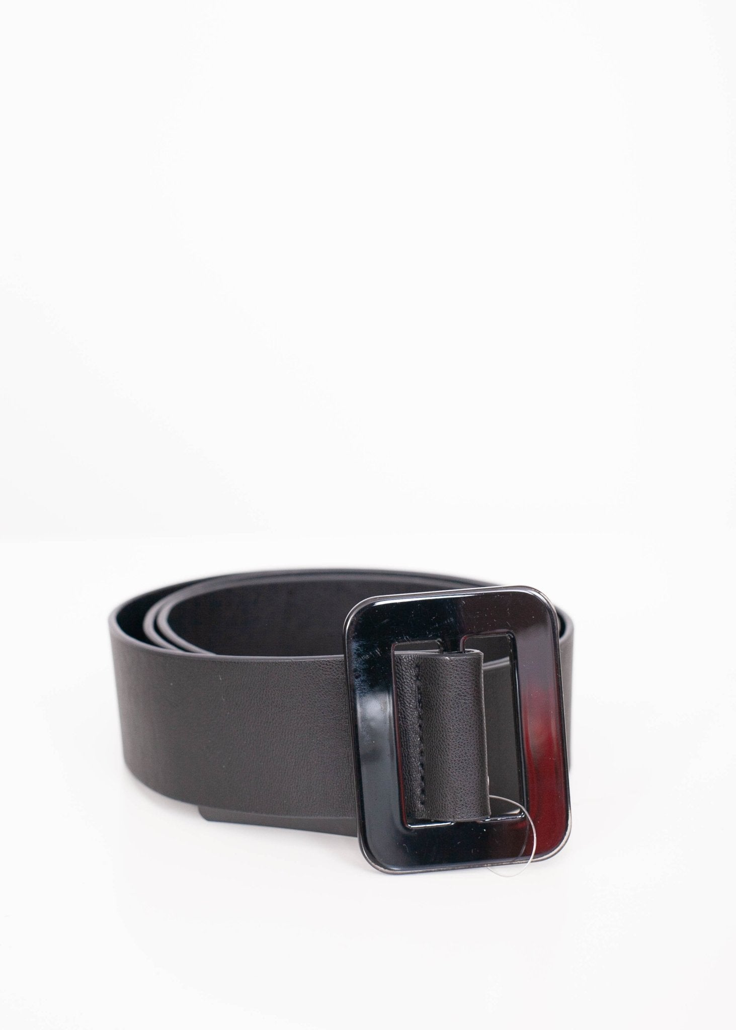 Emilia Black Big Buckle Belt - The Walk in Wardrobe