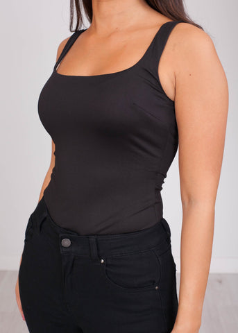 Emilia Black Bodysuit - The Walk in Wardrobe