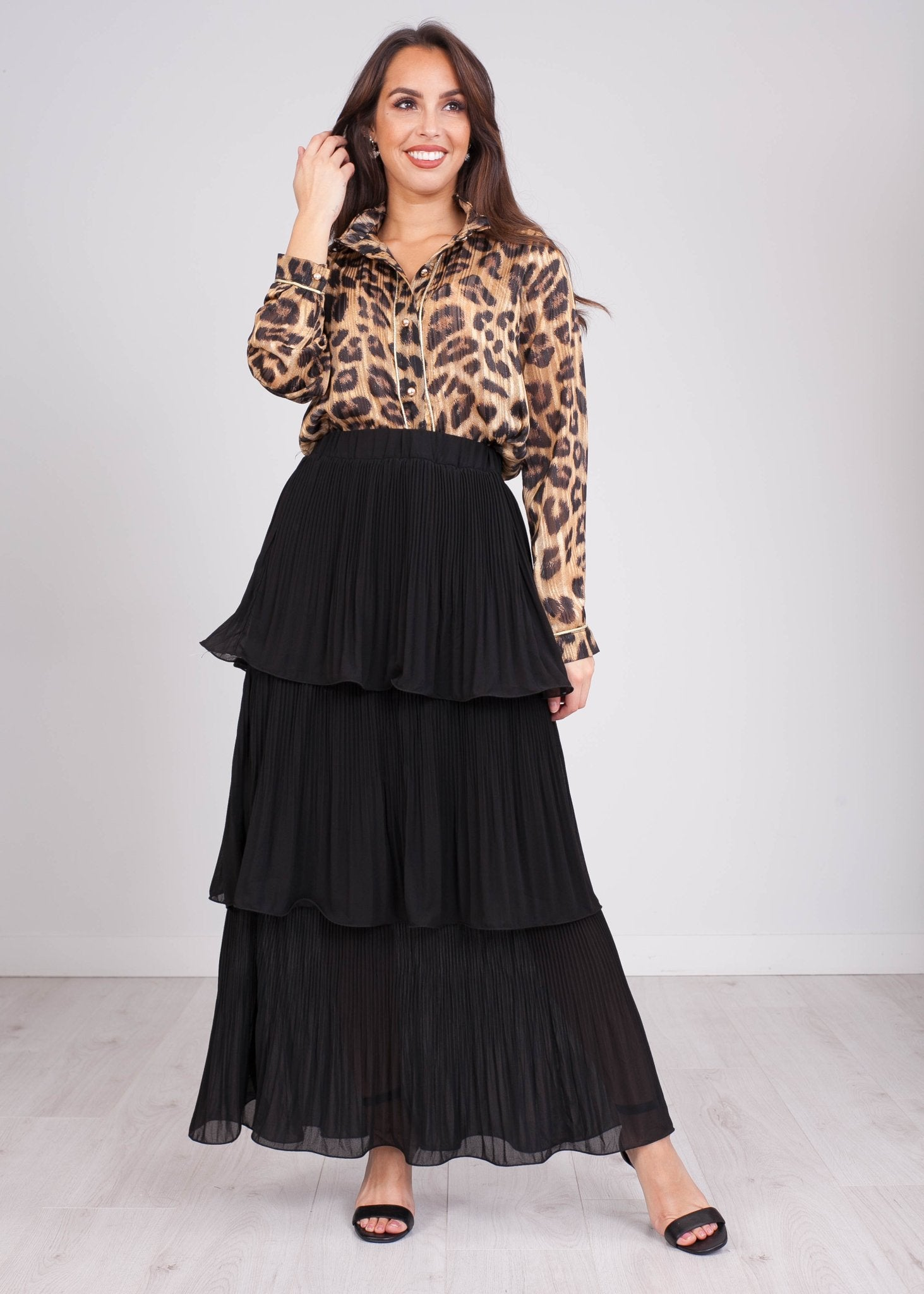Emilia Black Tiered Skirt - The Walk in Wardrobe