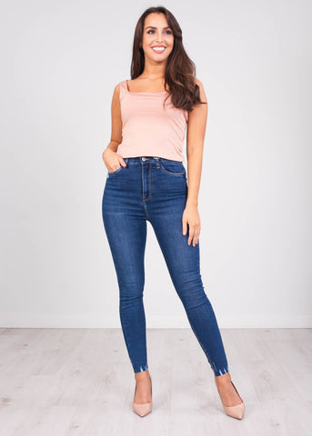 Emilia Blush Square Neck Top - The Walk in Wardrobe