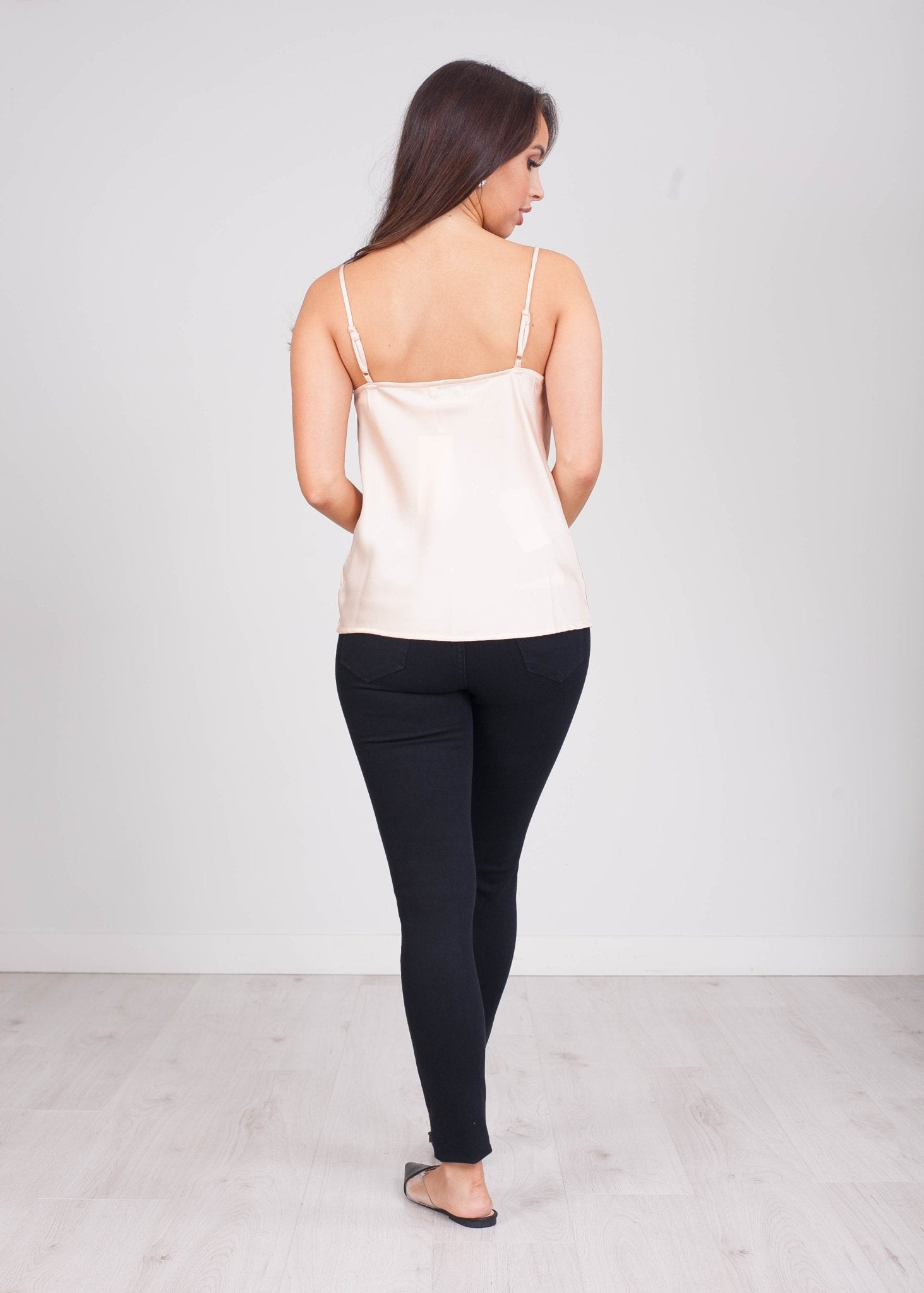 Emilia Cream Cowl Neck Cami - The Walk in Wardrobe