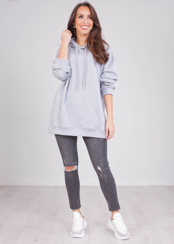 Emilia Grey Hoodie - The Walk in Wardrobe