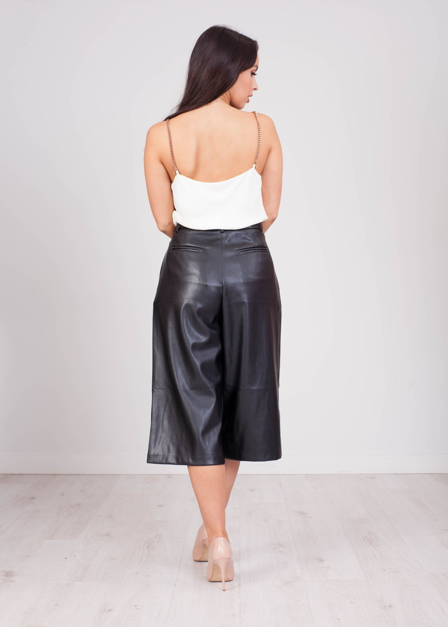 Emilia Leather Culotte - The Walk in Wardrobe