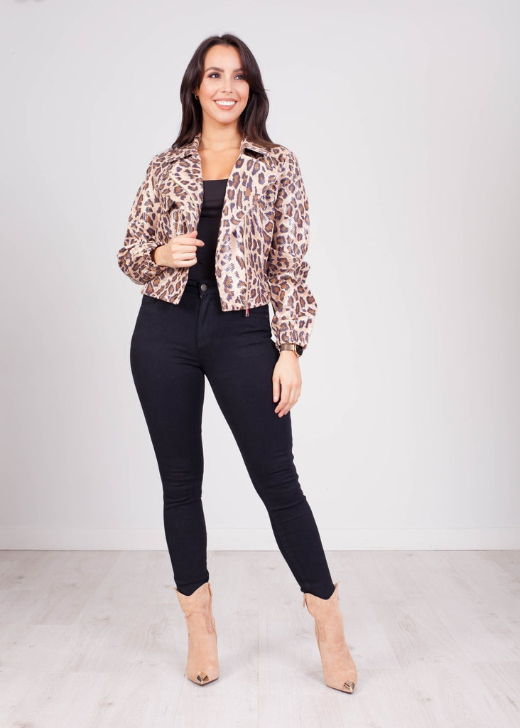 Emilia Leopard Print Jacket - The Walk in Wardrobe