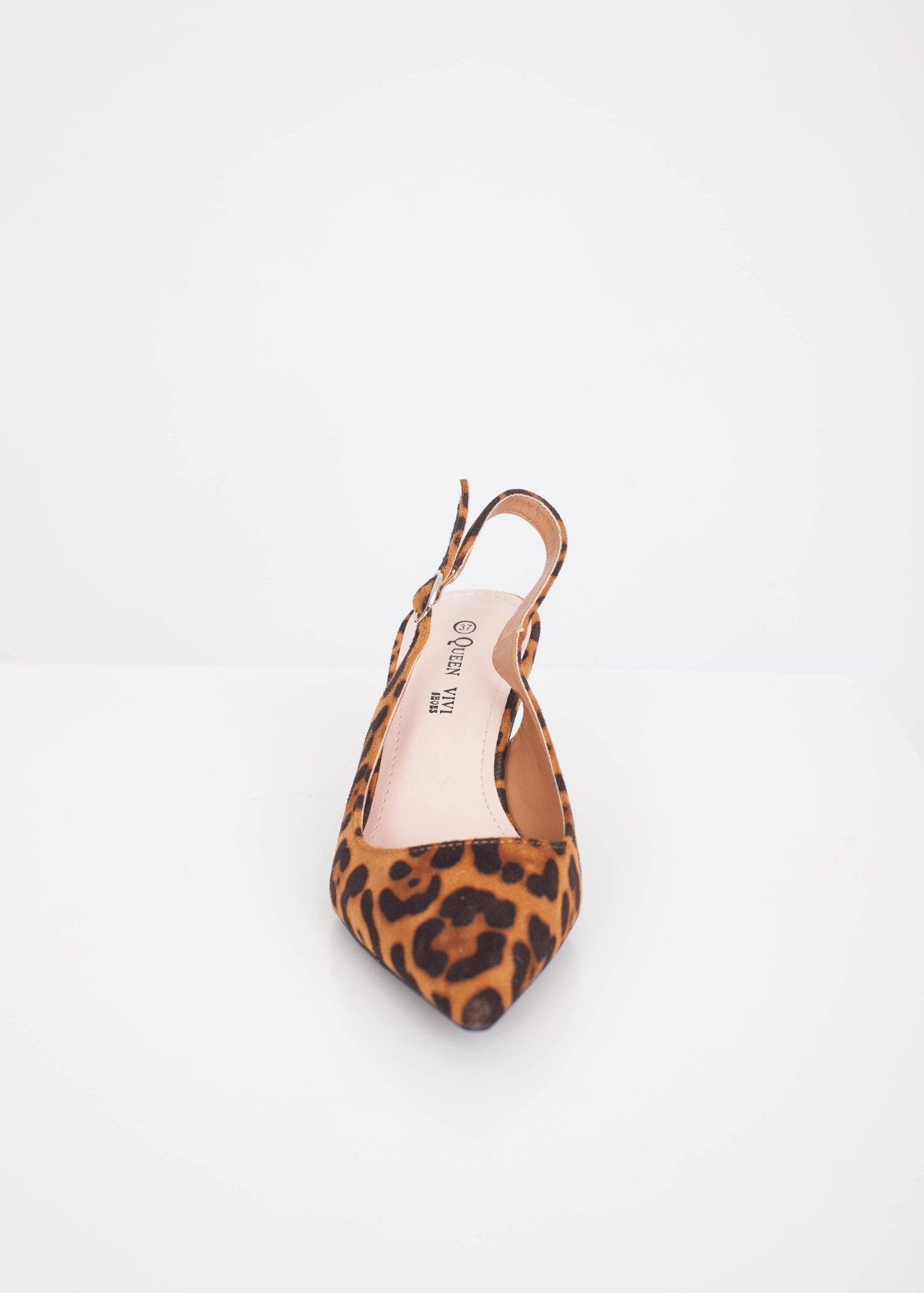 Emilia Leopard Print Kitten Heels - The Walk in Wardrobe