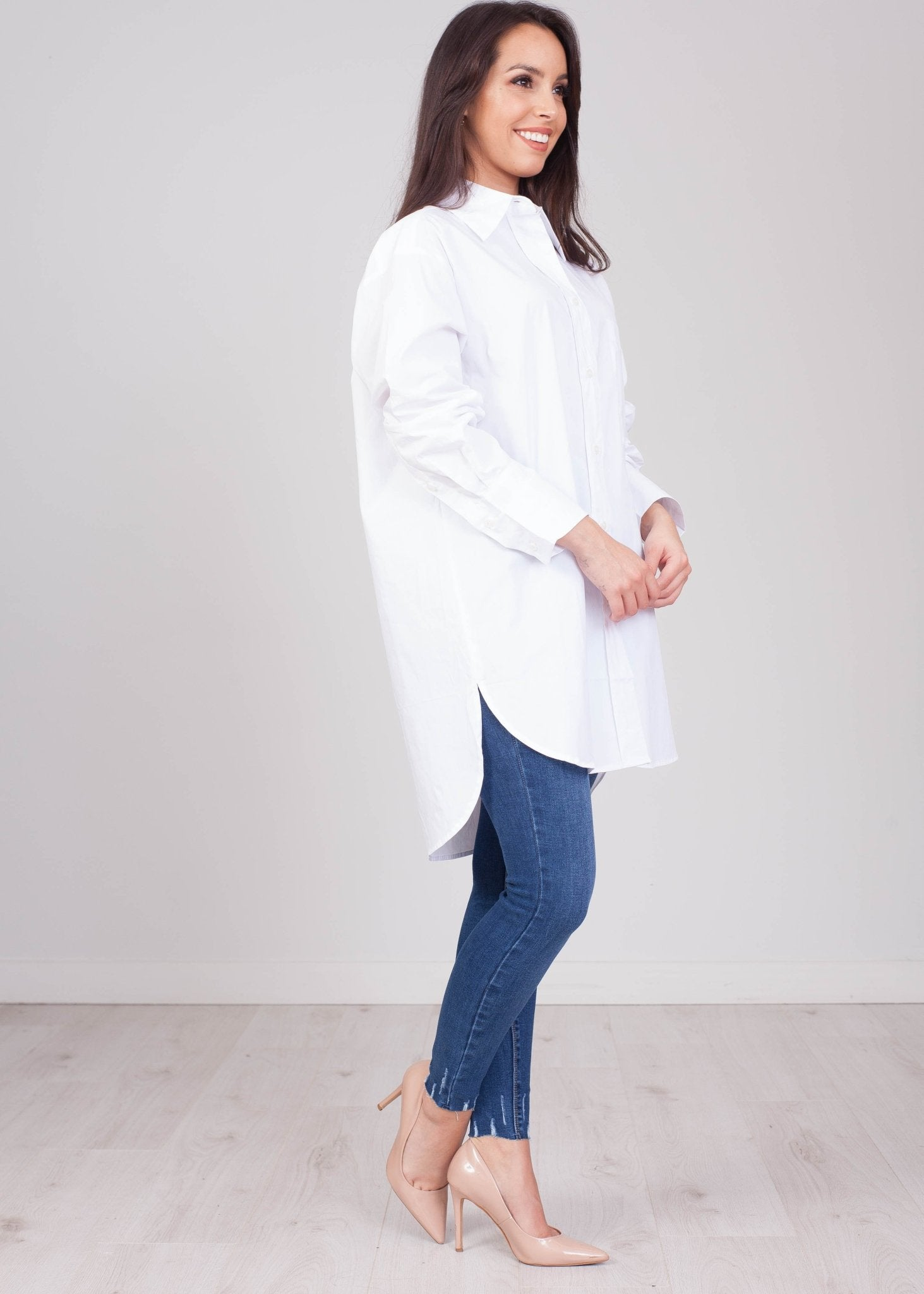 Emilia Oversized White Shirt - The Walk in Wardrobe