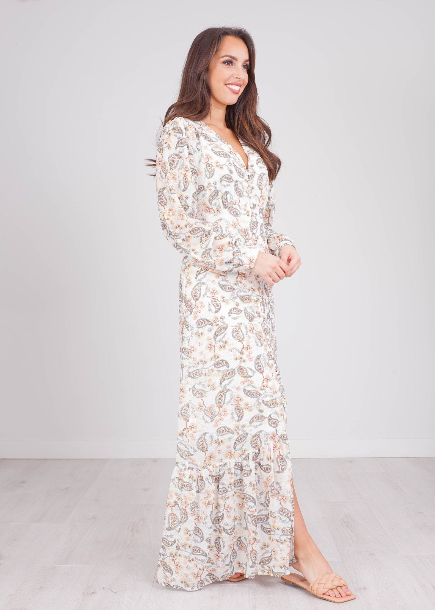 Emilia Paisley Printed Dress - The Walk in Wardrobe