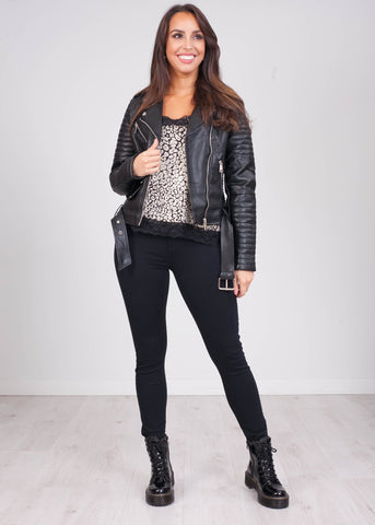Emilia Quilted Biker Jacket - The Walk in Wardrobe