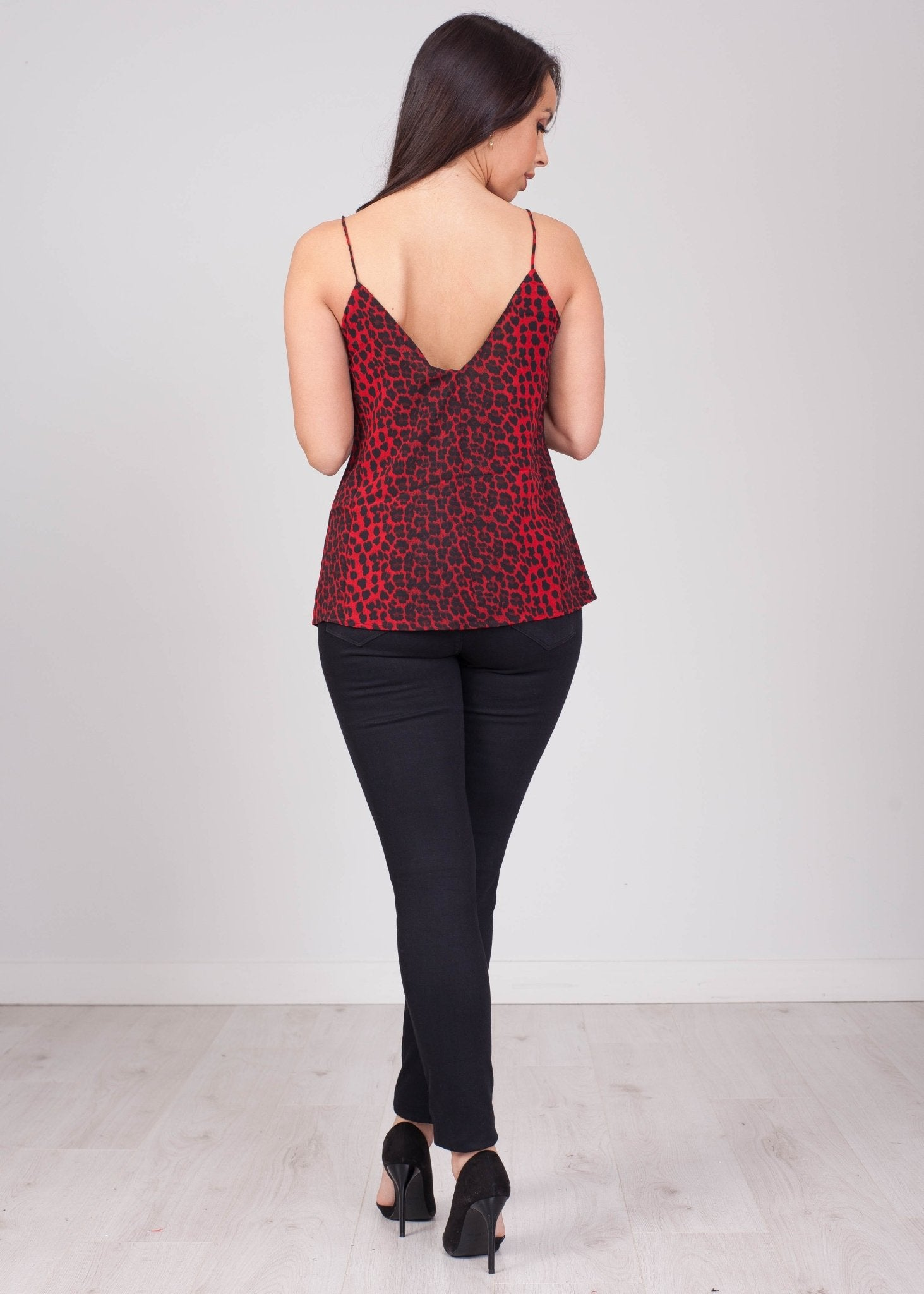 Emilia Red & Black Leopard Cami - The Walk in Wardrobe