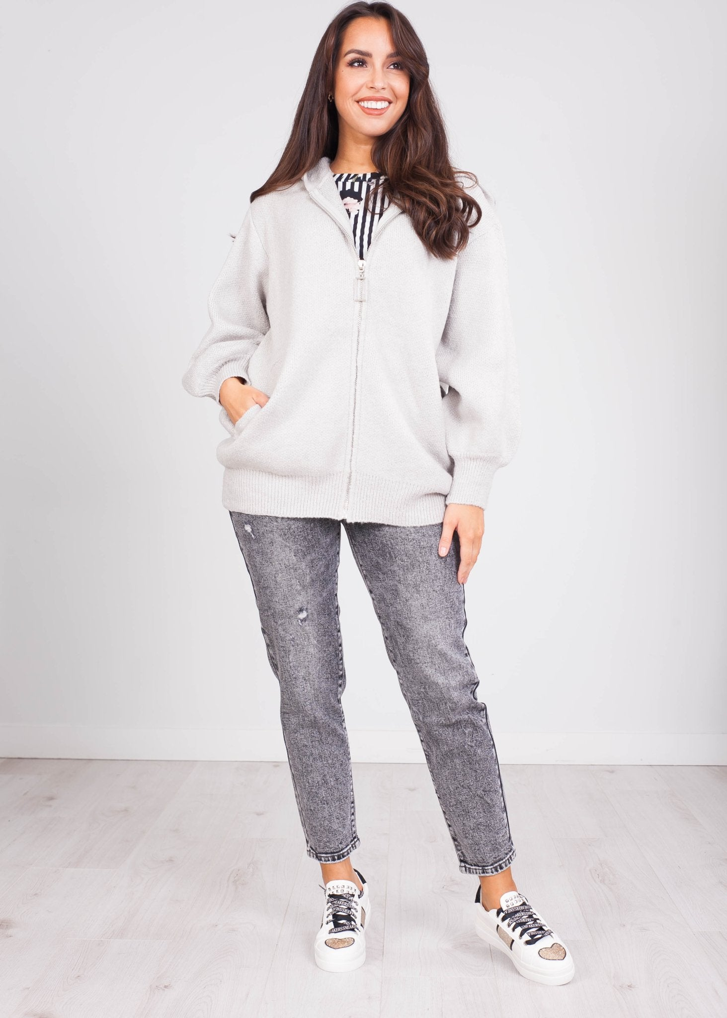 Emilia Zip Fleece Hoodie - The Walk in Wardrobe