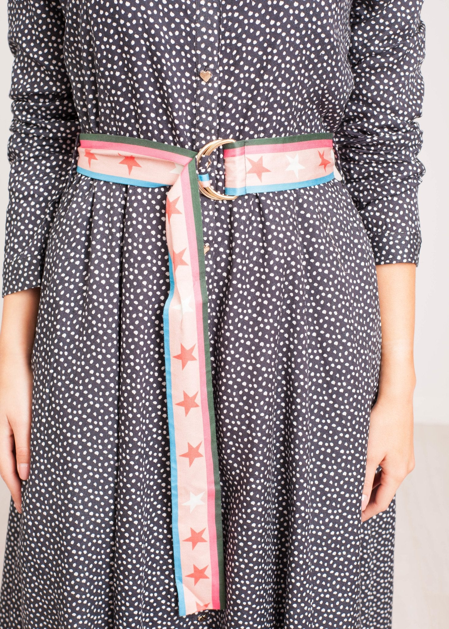 Emily Polka Dot Shirt Dress In Black - The Walk in Wardrobe