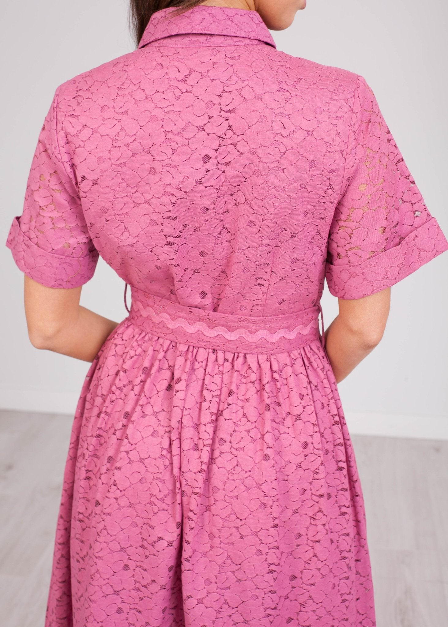 Emily Purple Lace Dress - The Walk in Wardrobe