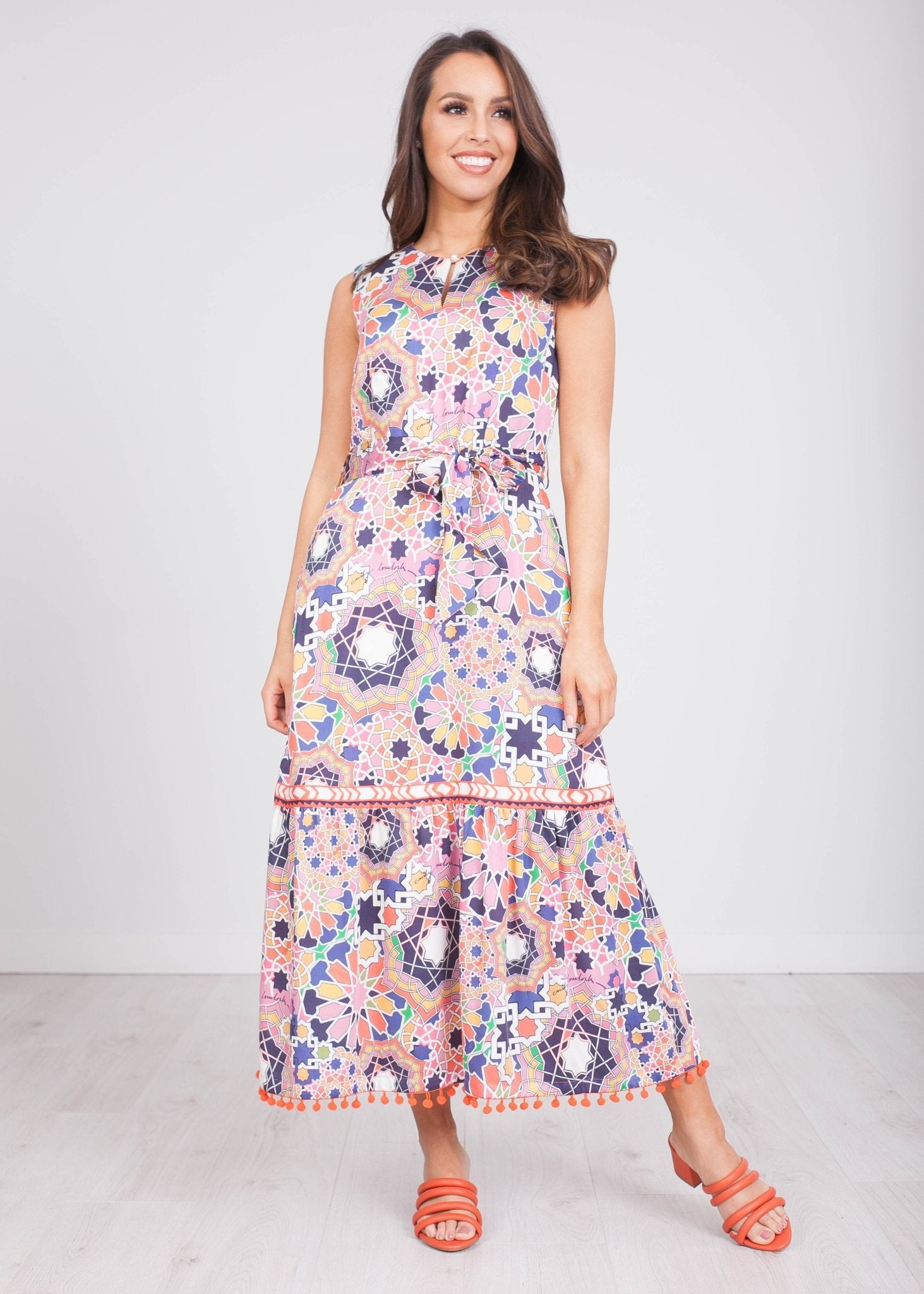 Emily Sleeveless Printed Dress - The Walk in Wardrobe