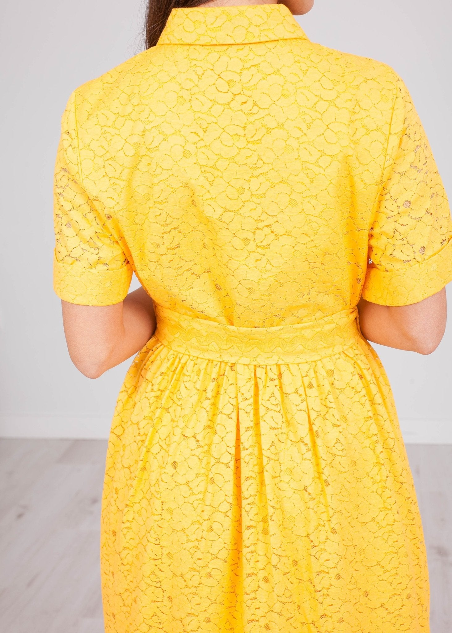 Emily Yellow Lace Dress - The Walk in Wardrobe