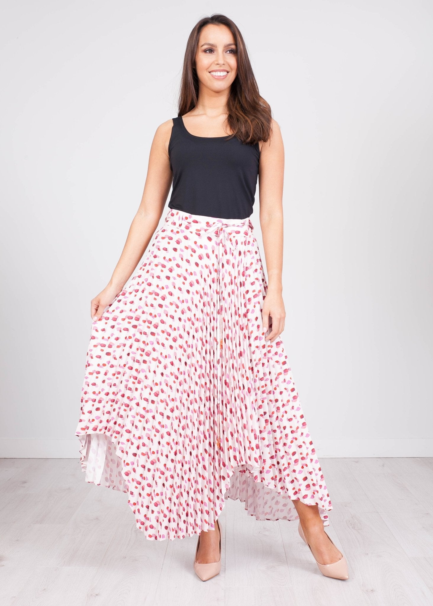 Eva Blush Pattern Skirt - The Walk in Wardrobe