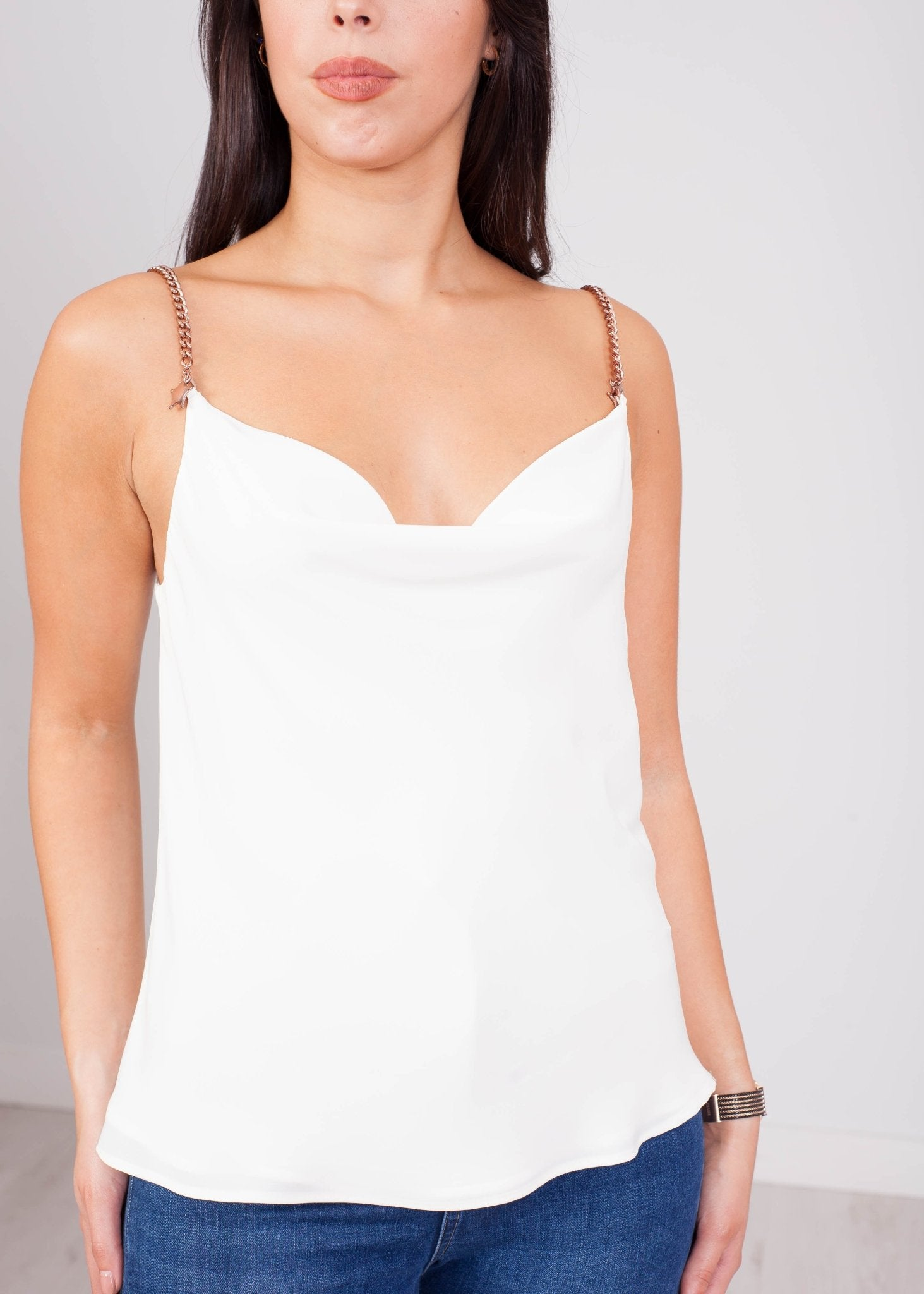 Eva Chain Cami in Cream - The Walk in Wardrobe