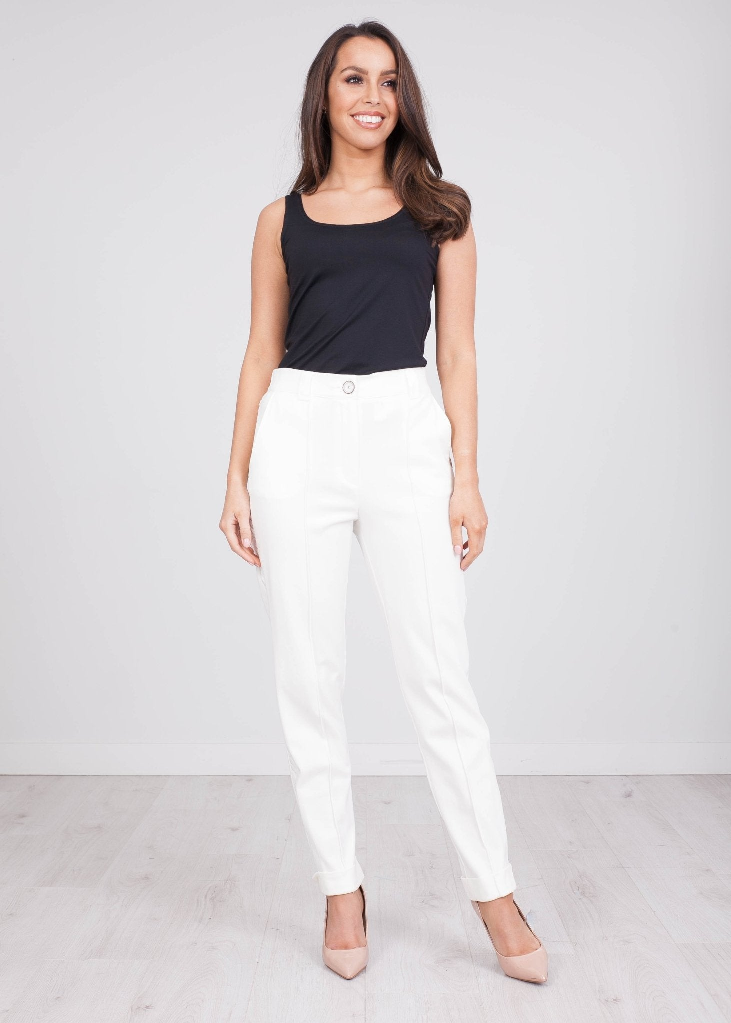 Eva Cream Luxe Trousers - The Walk in Wardrobe