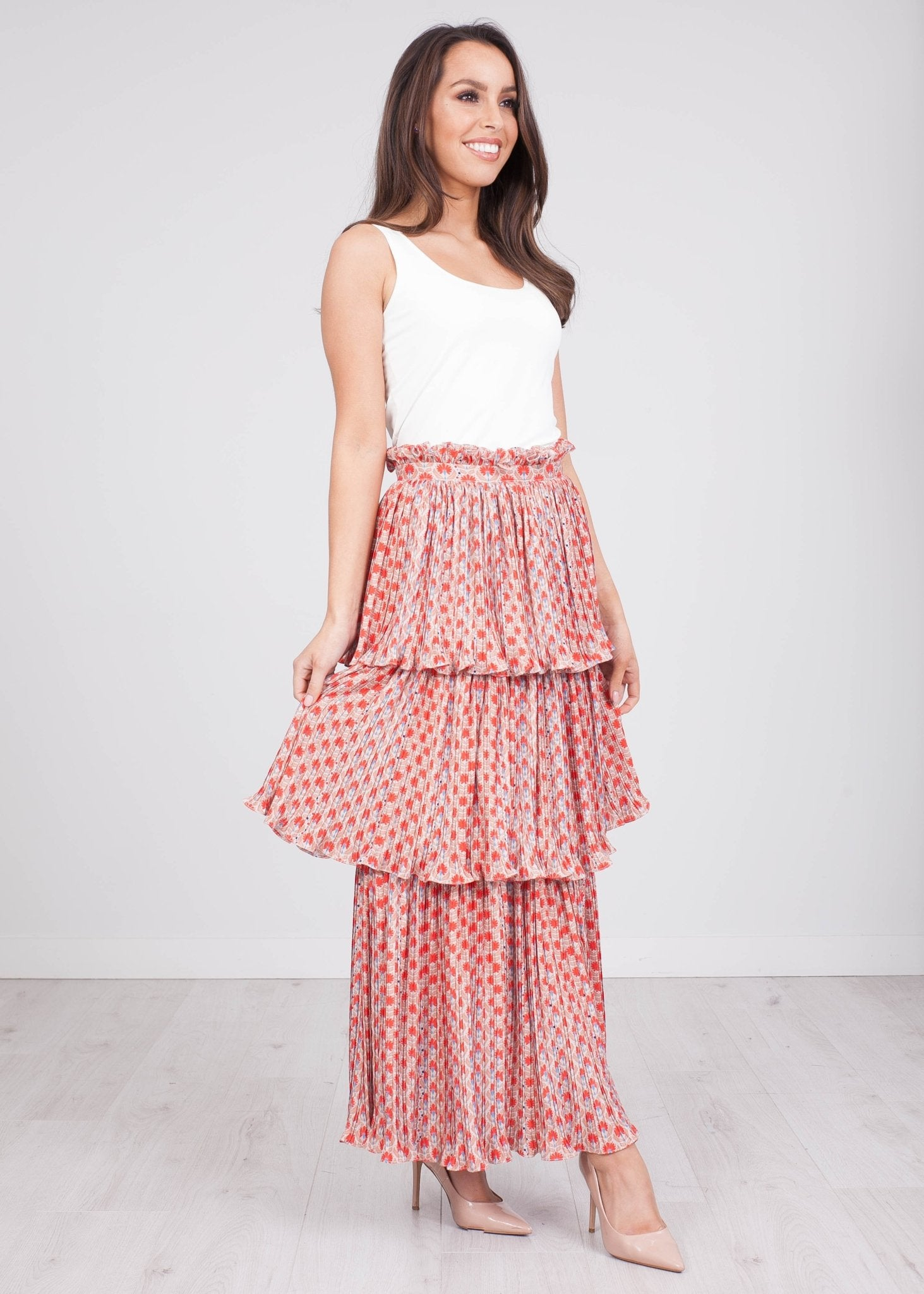 Eva Pattern Midi Skirt - The Walk in Wardrobe