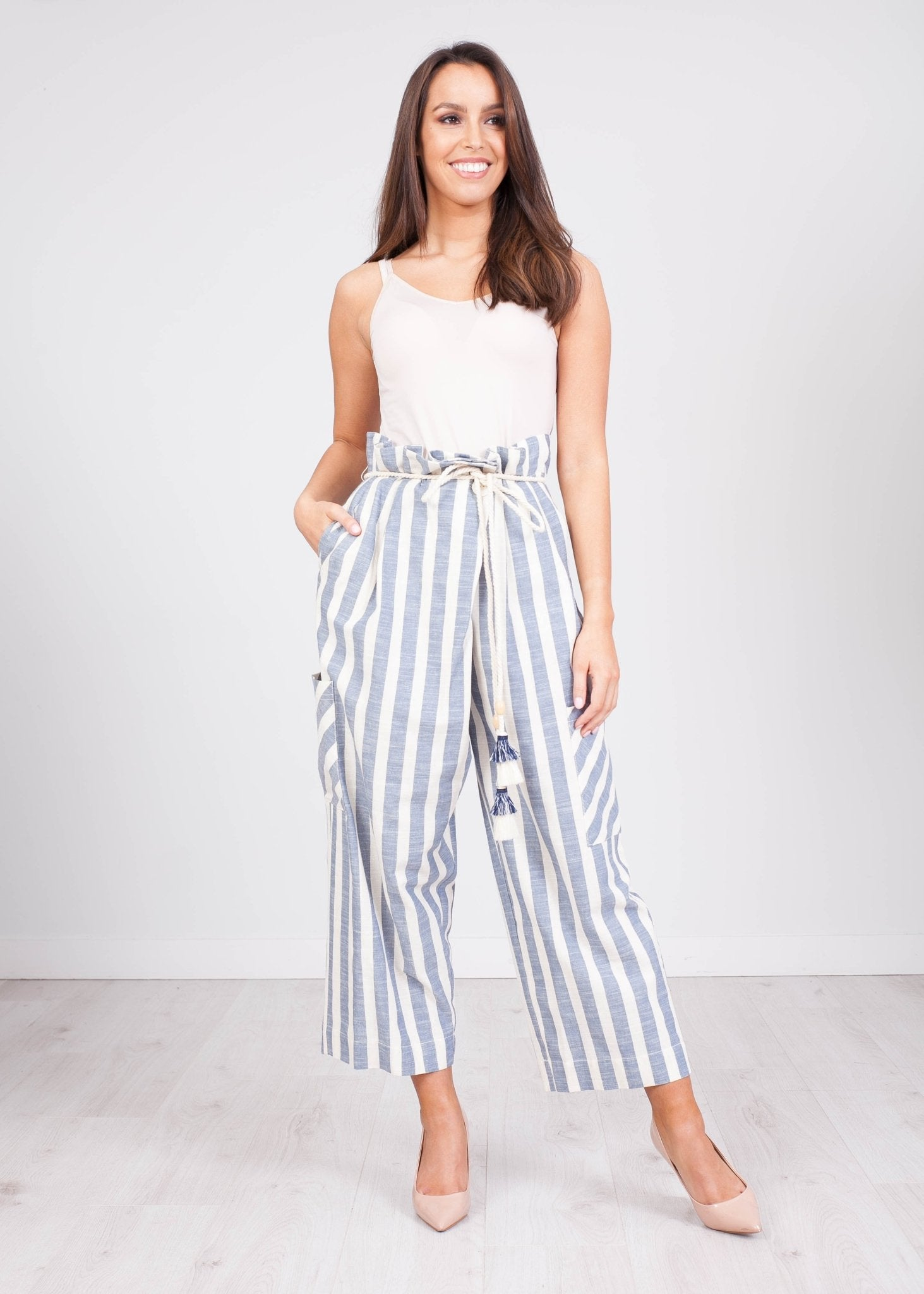 Eva Stripe Trousers - The Walk in Wardrobe