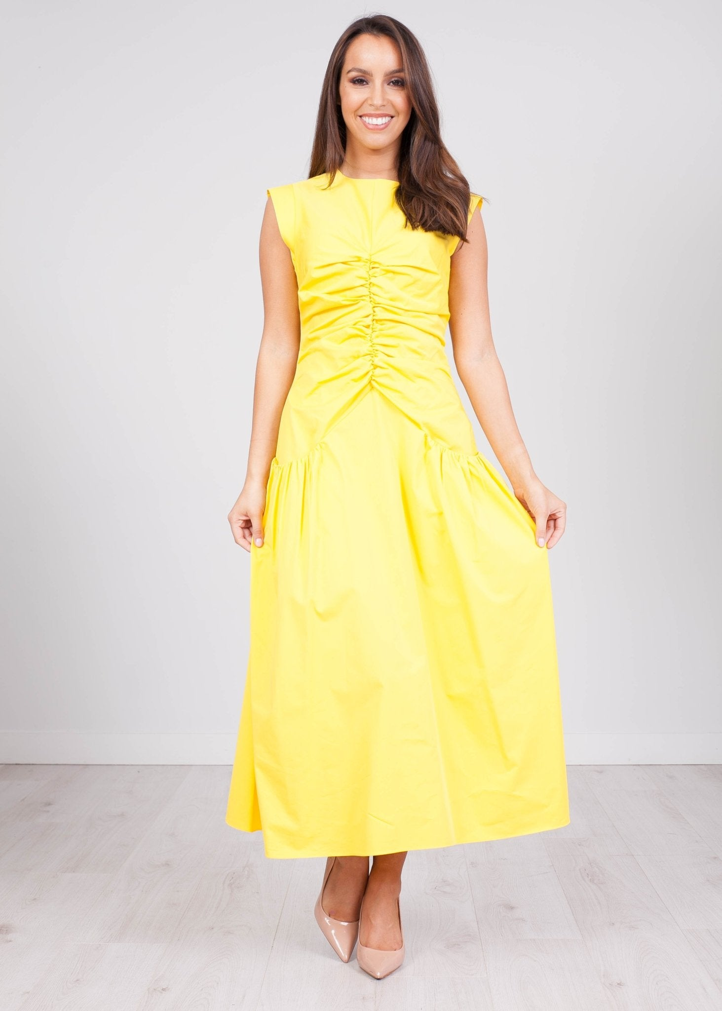 Eva Yellow Dress - The Walk in Wardrobe