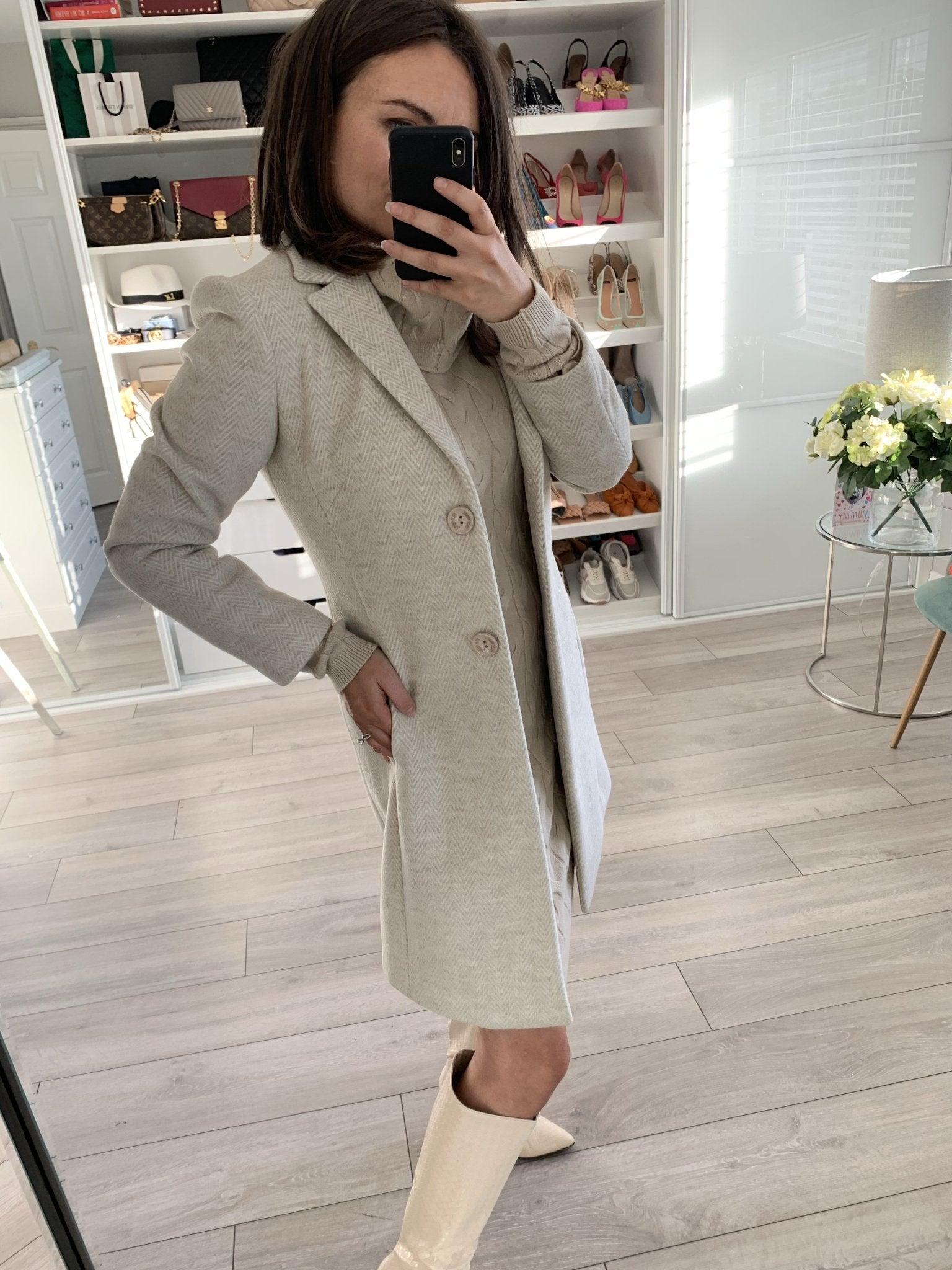 Faye Coat in Oatmeal - The Walk in Wardrobe