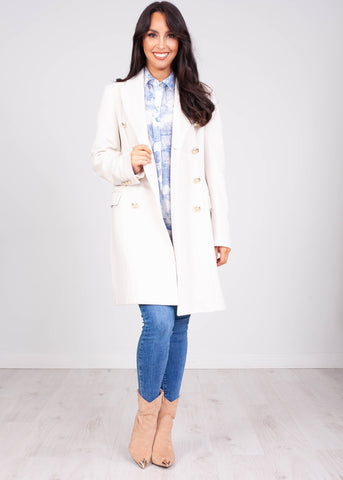 Faye Cream Coat - The Walk in Wardrobe